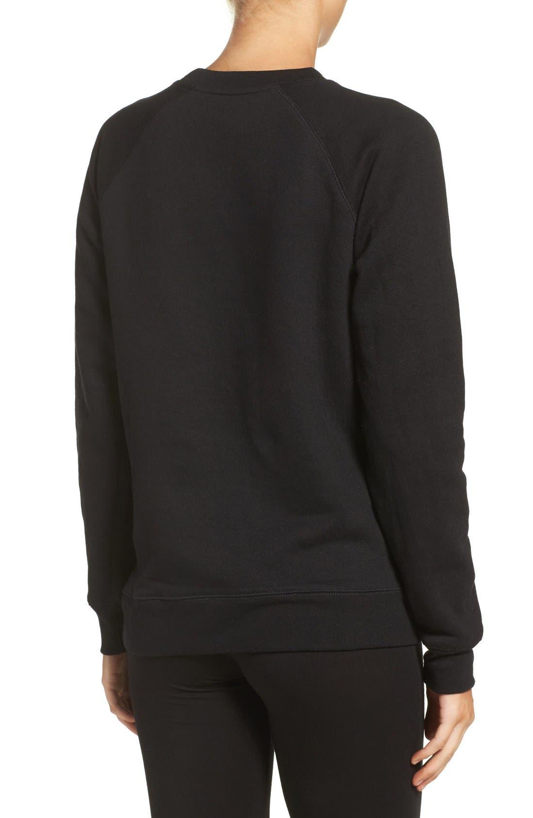 Brunette Crewneck Sweatshirt,                             Alternate thumbnail 8, color,                             001