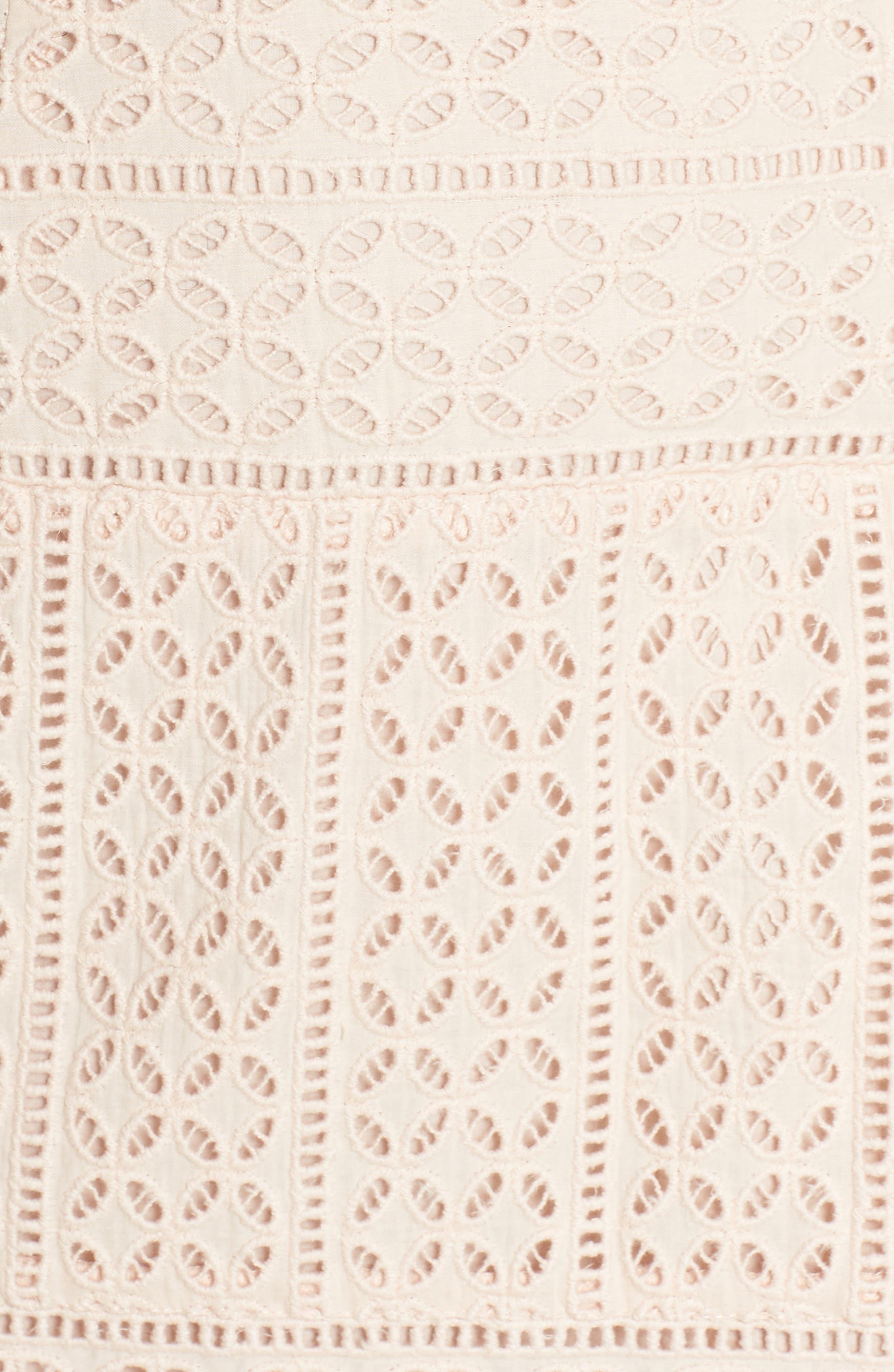 Schiffley Summer Cage Cotton Dress,                             Alternate thumbnail 6, color,                             687