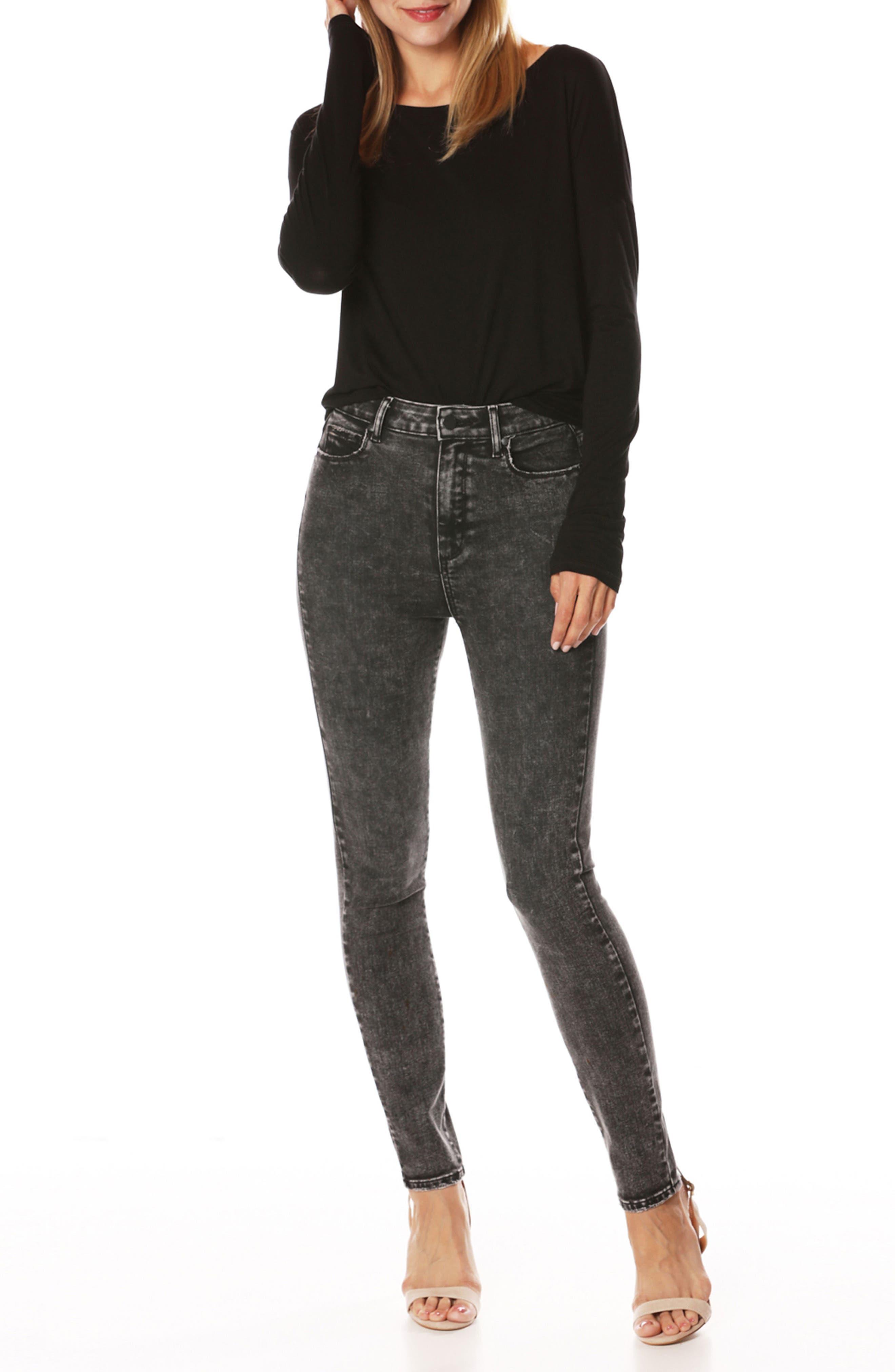 Margot High Waist Ultra Skinny Jeans,                             Alternate thumbnail 3, color,                             001