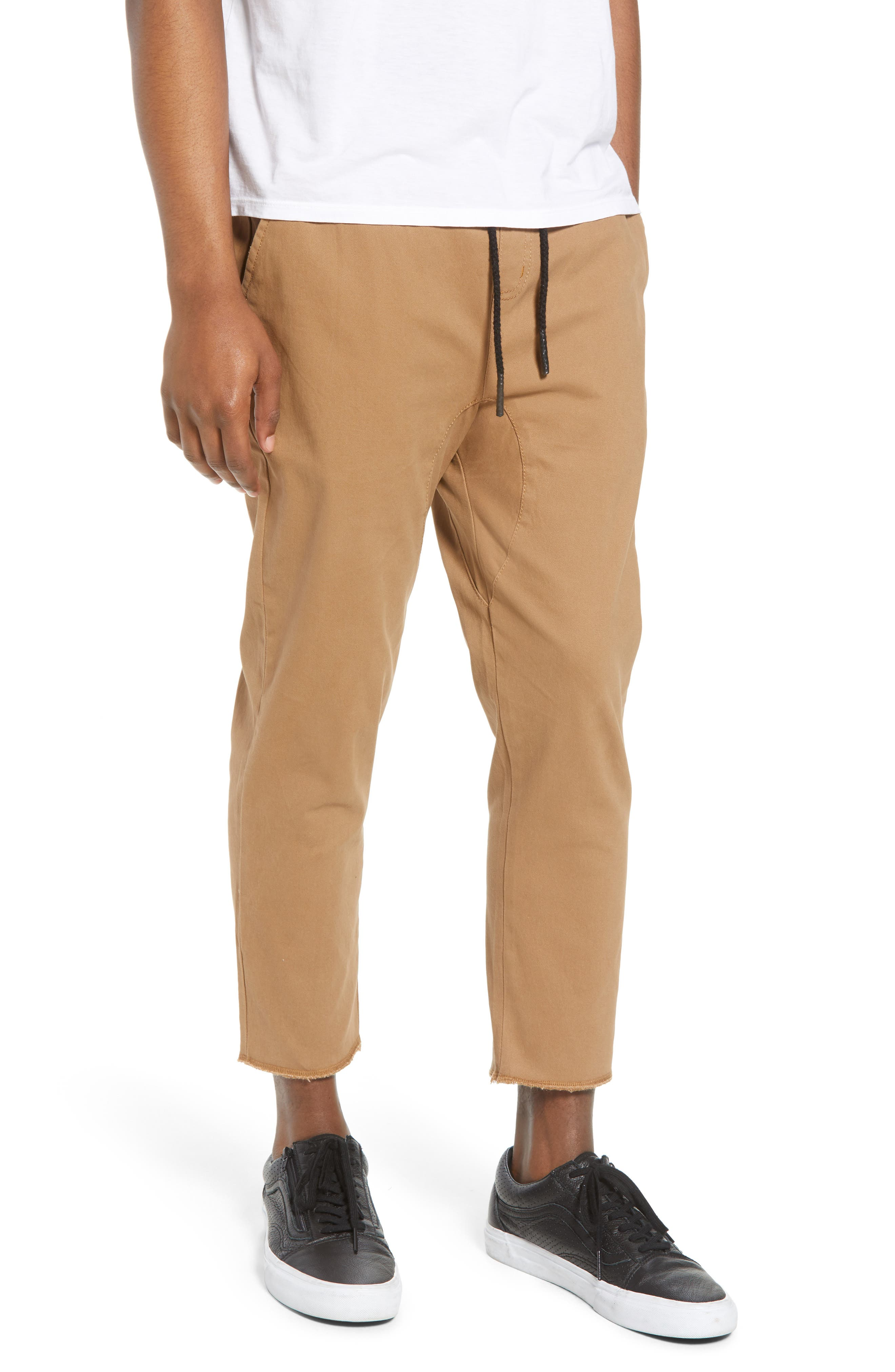 Vacation Slim Fit Crop Pants,                             Main thumbnail 1, color,                             KHAKI