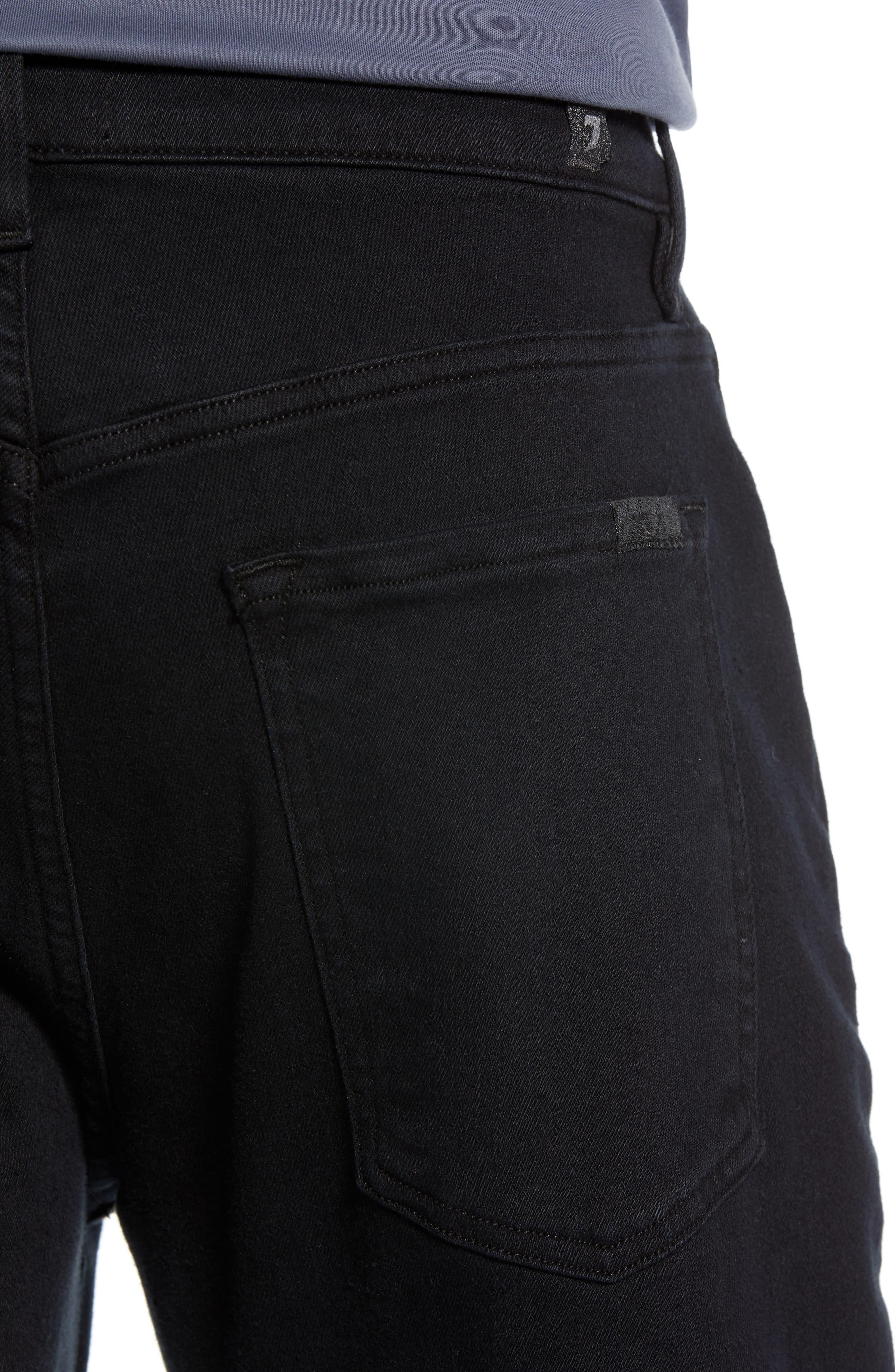 Adrien Slim Fit Straight Leg Jeans,                             Alternate thumbnail 4, color,                             AUTHENTIC BLACK