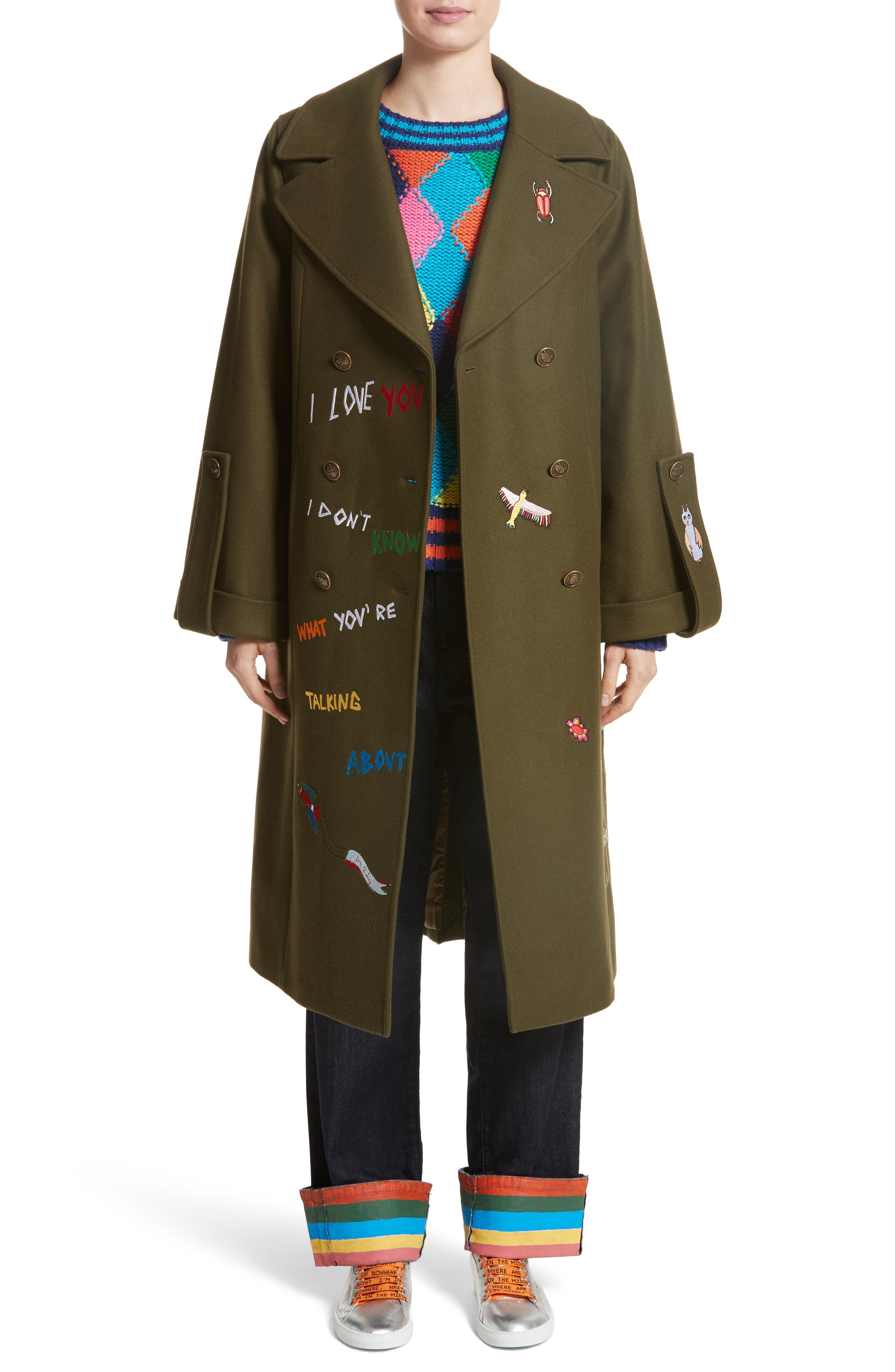 Adventure Embroidered Coat,                             Main thumbnail 1, color,                             340