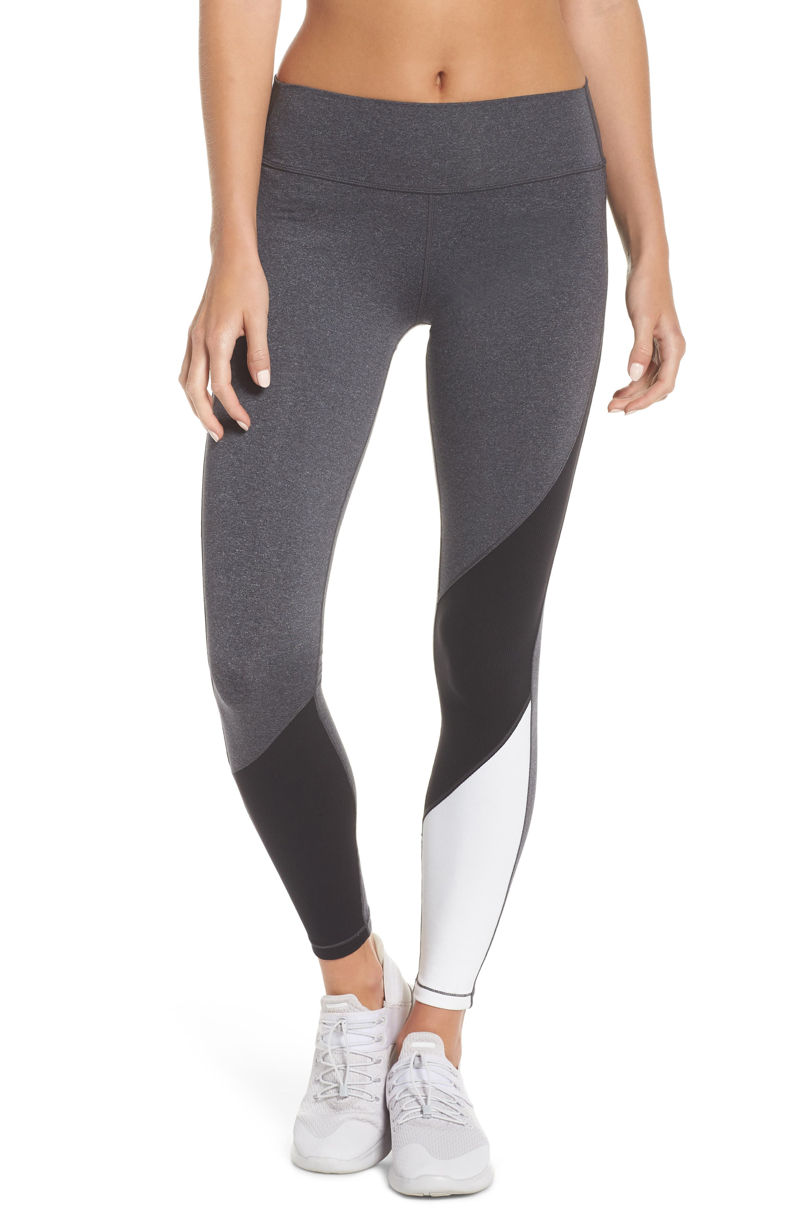 All Star Leggings,                         Main,                         color, HEATHER GREY/ BLACK/ OFF WHITE