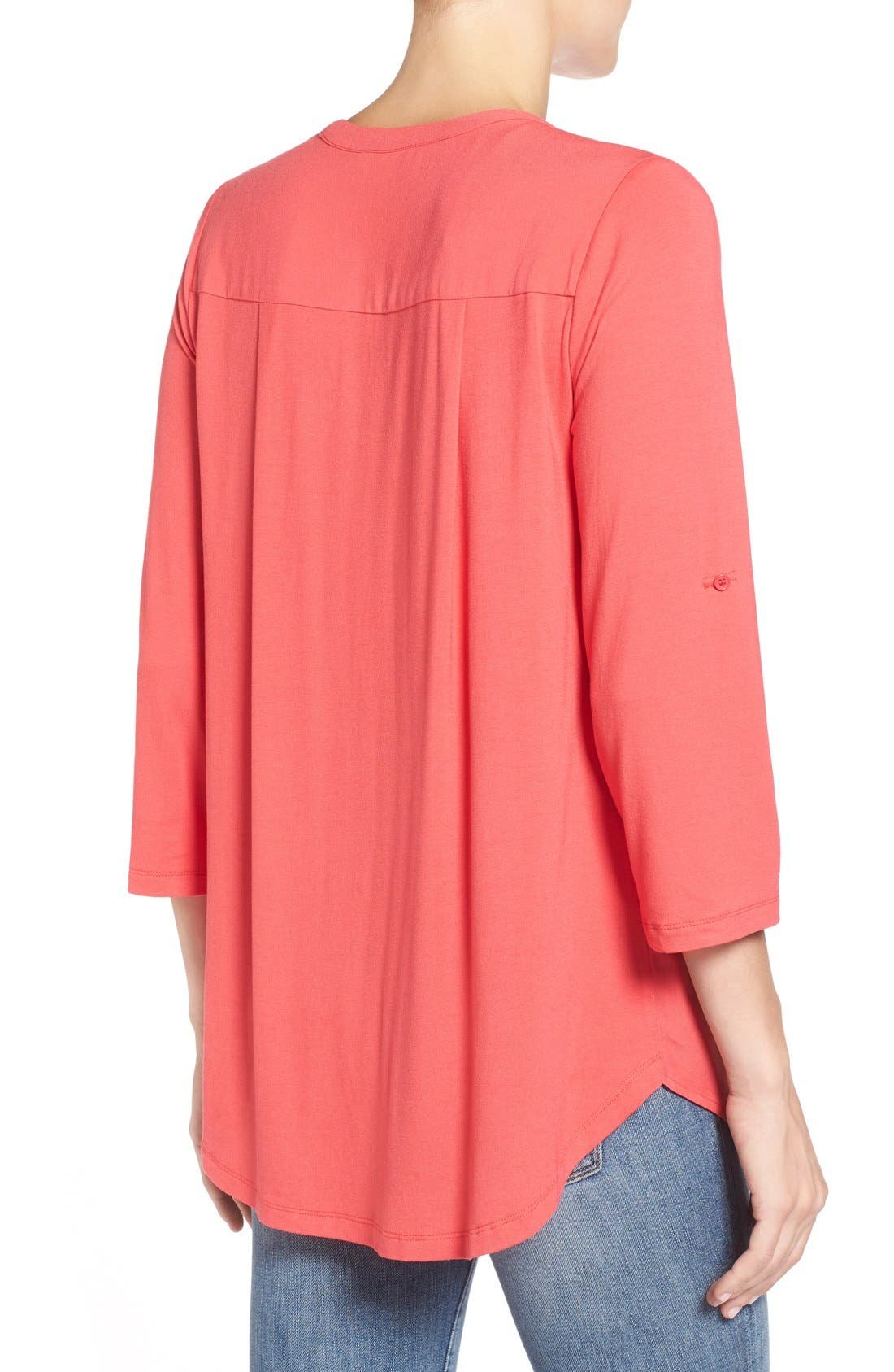 Mixed Media V-Neck Tunic,                             Alternate thumbnail 173, color,