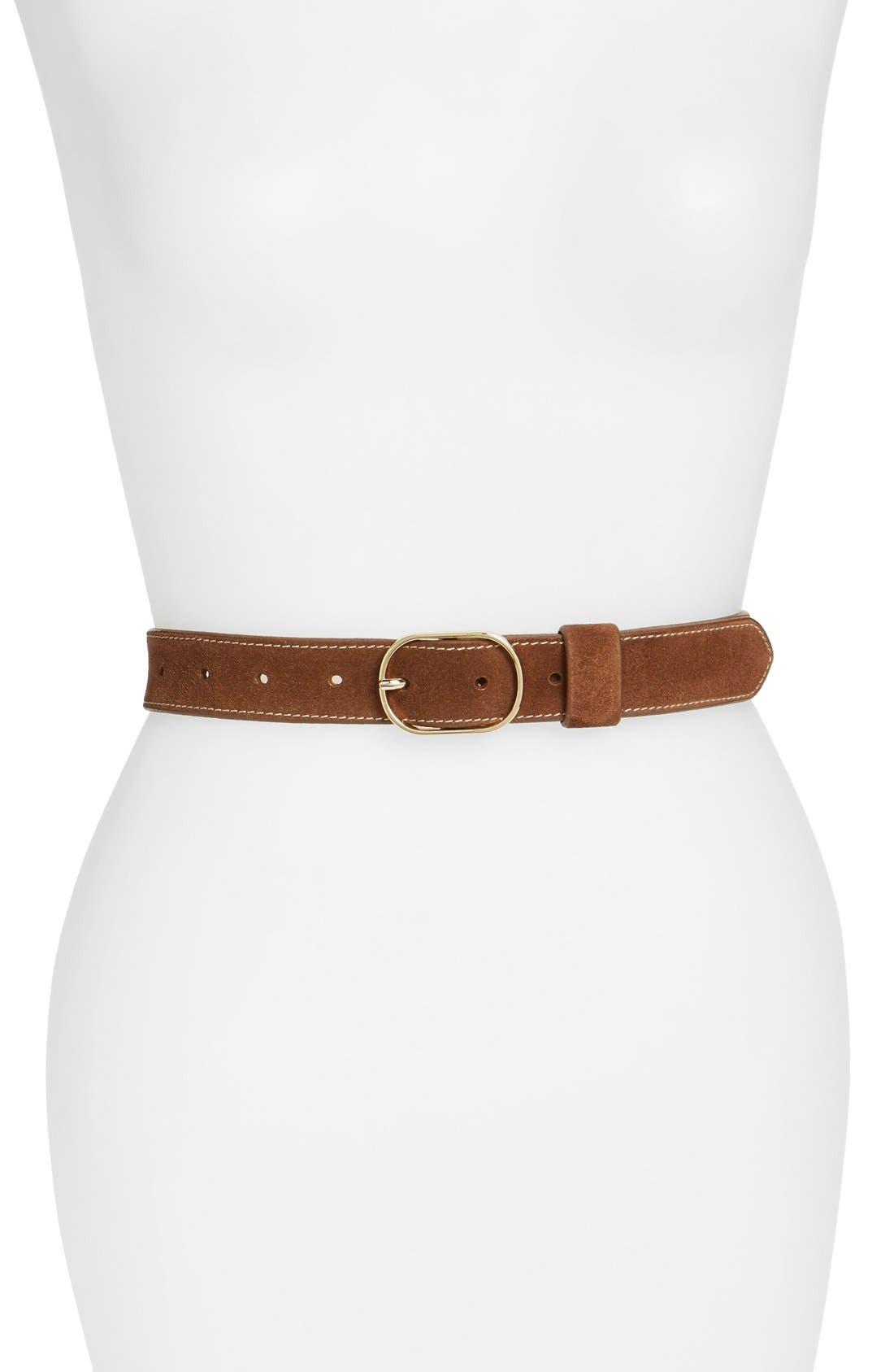 Suede Belt,                         Main,                         color, 210