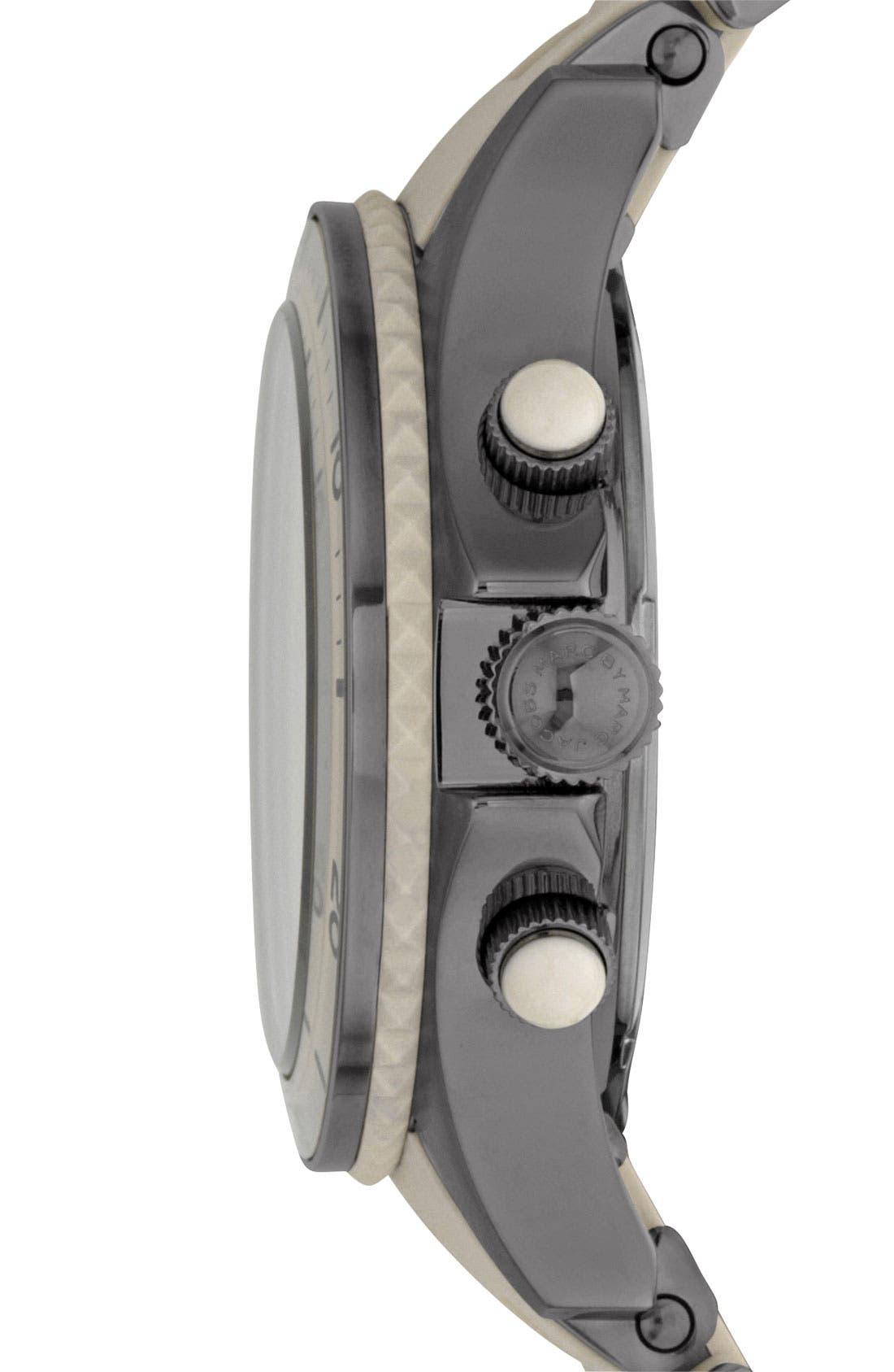 'Rock' Chronograph Silicone Bracelet Watch, 40mm,                             Alternate thumbnail 19, color,