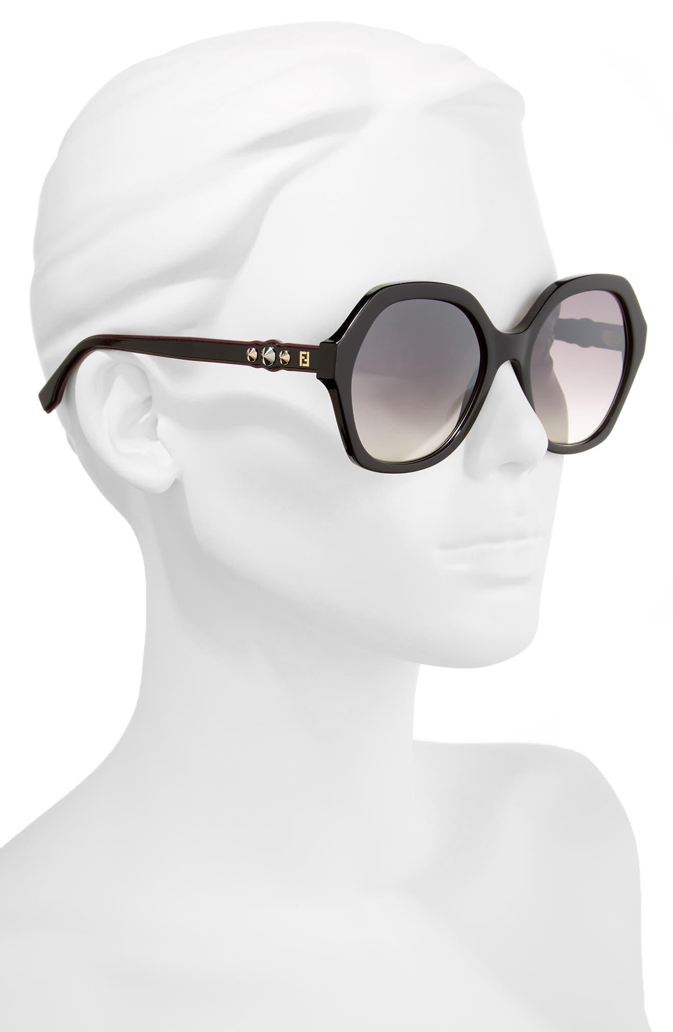 56mm Oversize Sunglasses,                             Alternate thumbnail 2, color,                             001