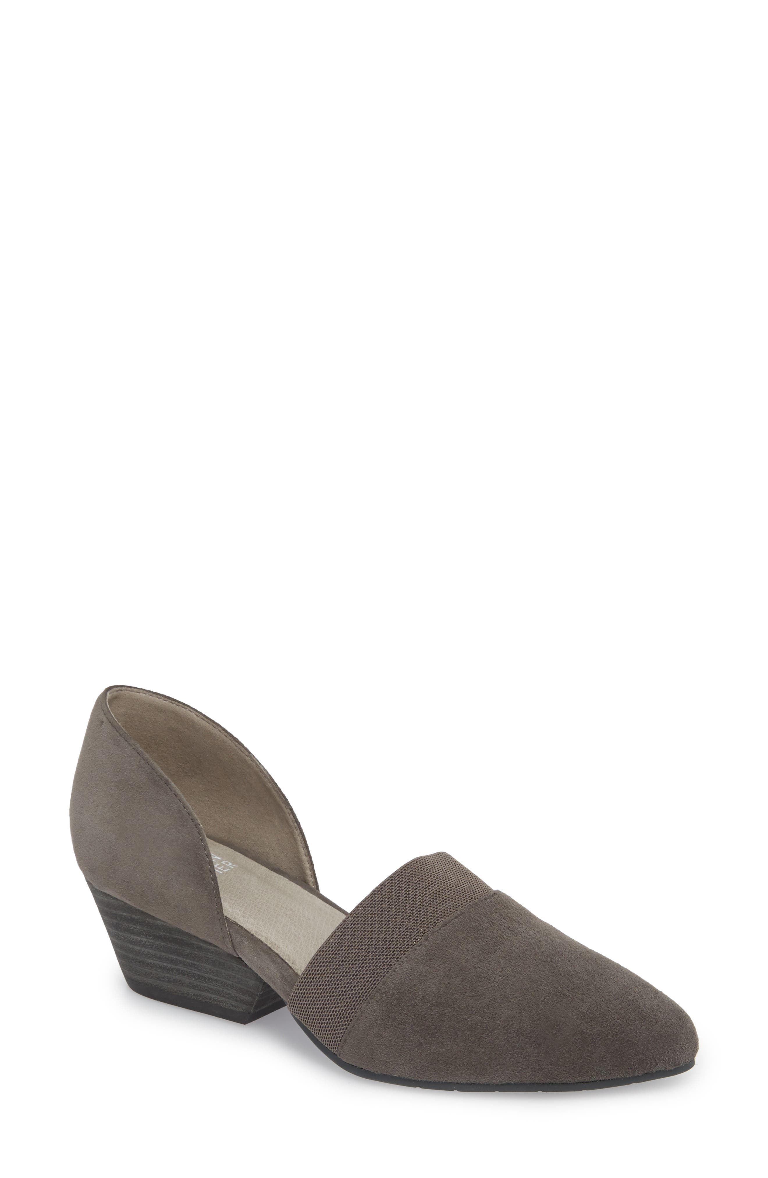 Hilly d'Orsay Pump,                             Main thumbnail 1, color,                             GRAPHITE SUEDE