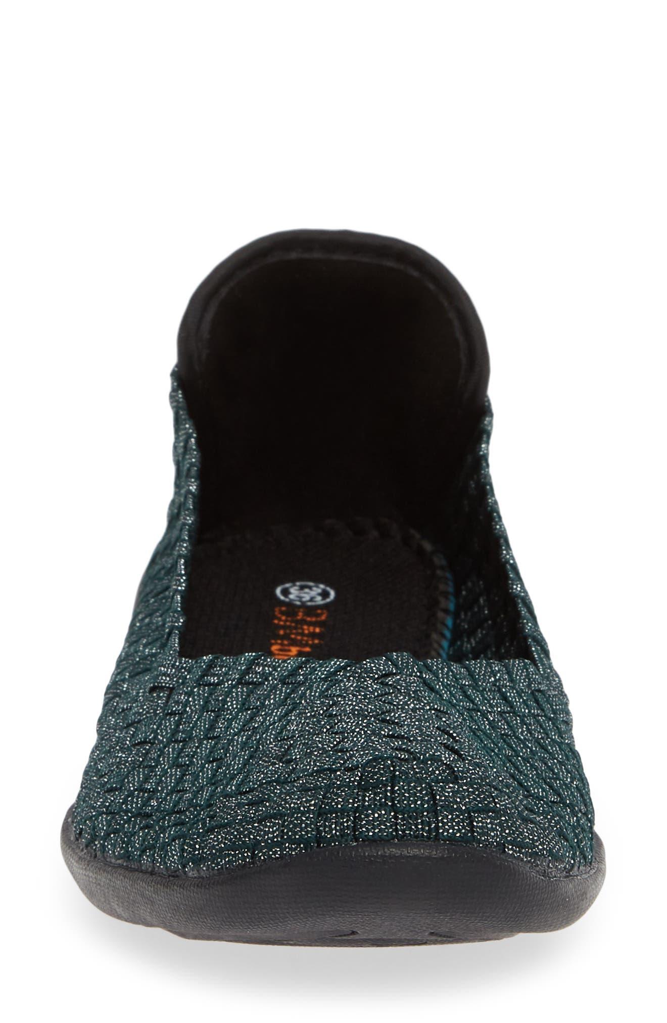 Catwalk Sneaker,                             Alternate thumbnail 4, color,                             DEEP GREEN SHIMMER FABRIC