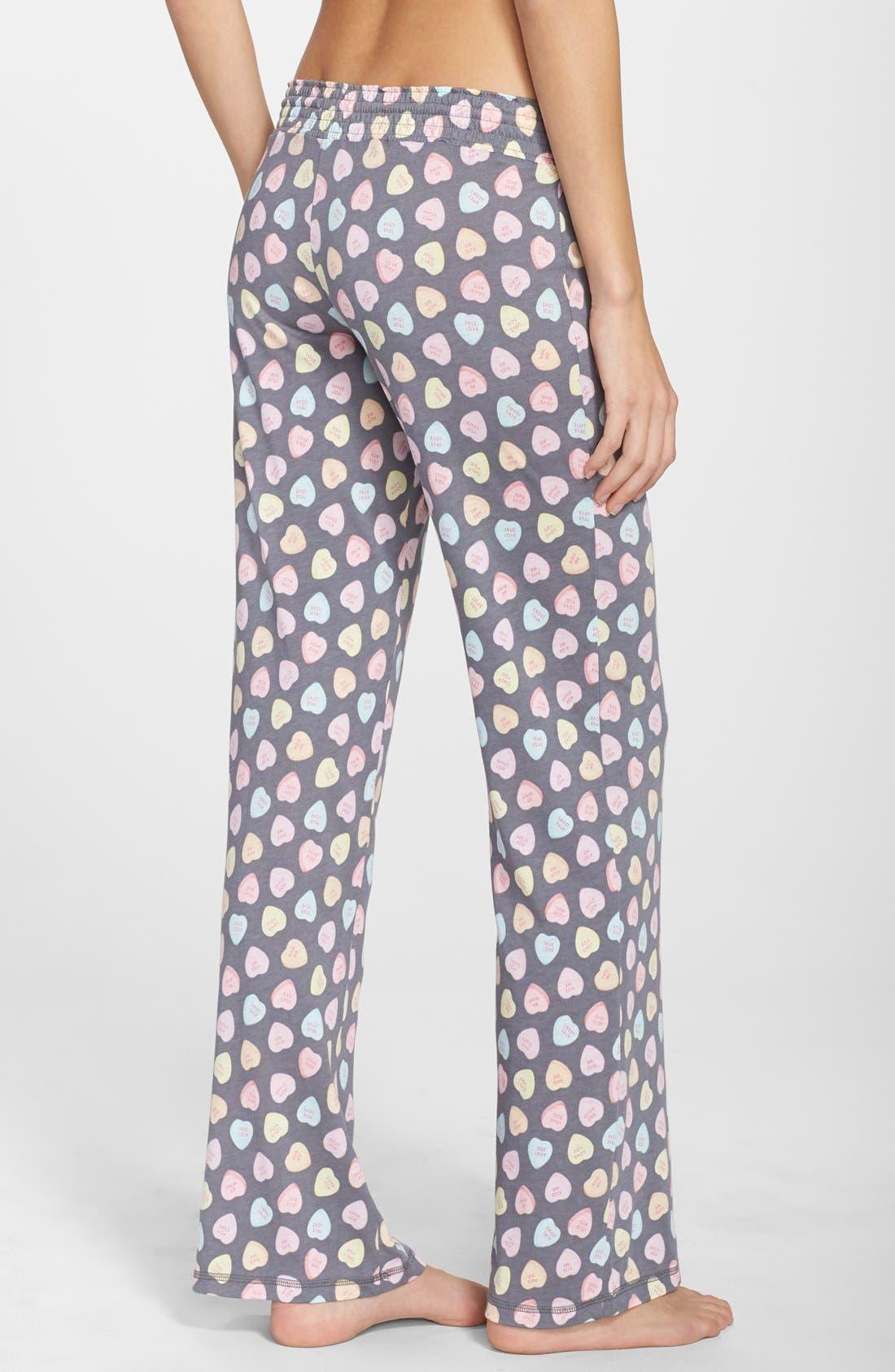 PJ SALVAGE,                             'Candy Hearts' Pajama Pants,                             Alternate thumbnail 3, color,                             020