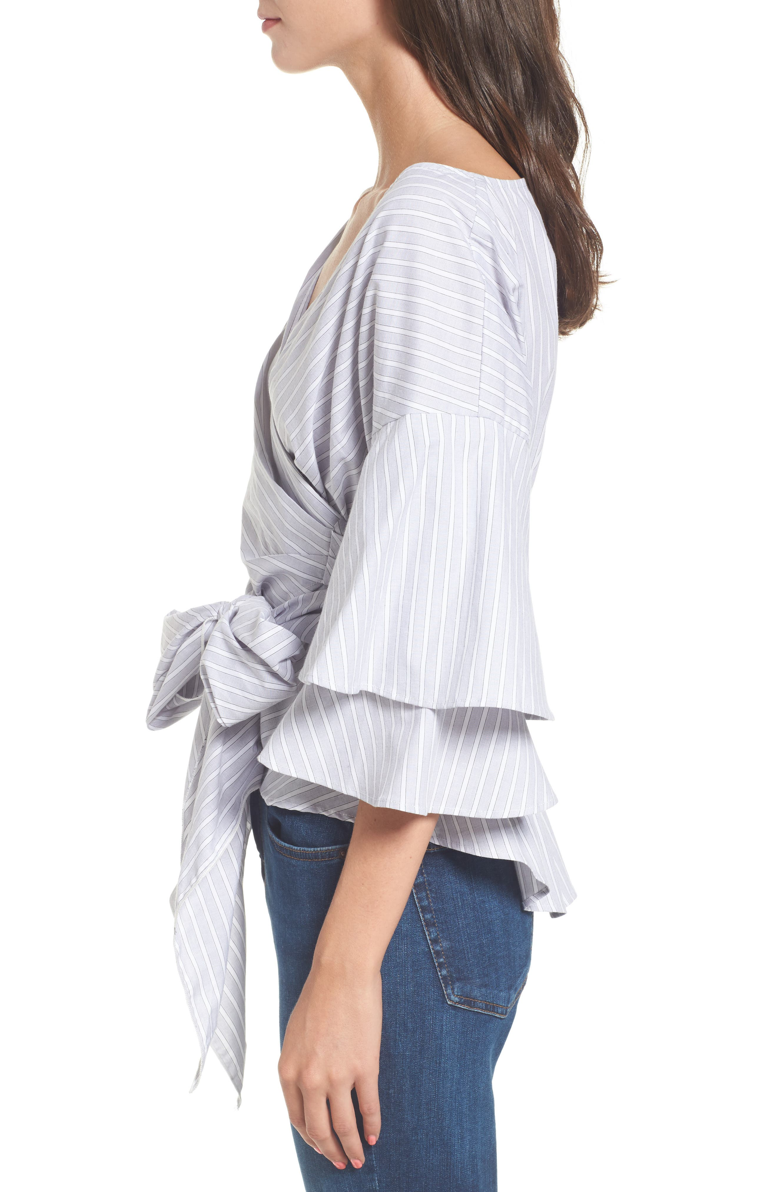 Beckett Tiered Bell Sleeve Top,                             Alternate thumbnail 16, color,