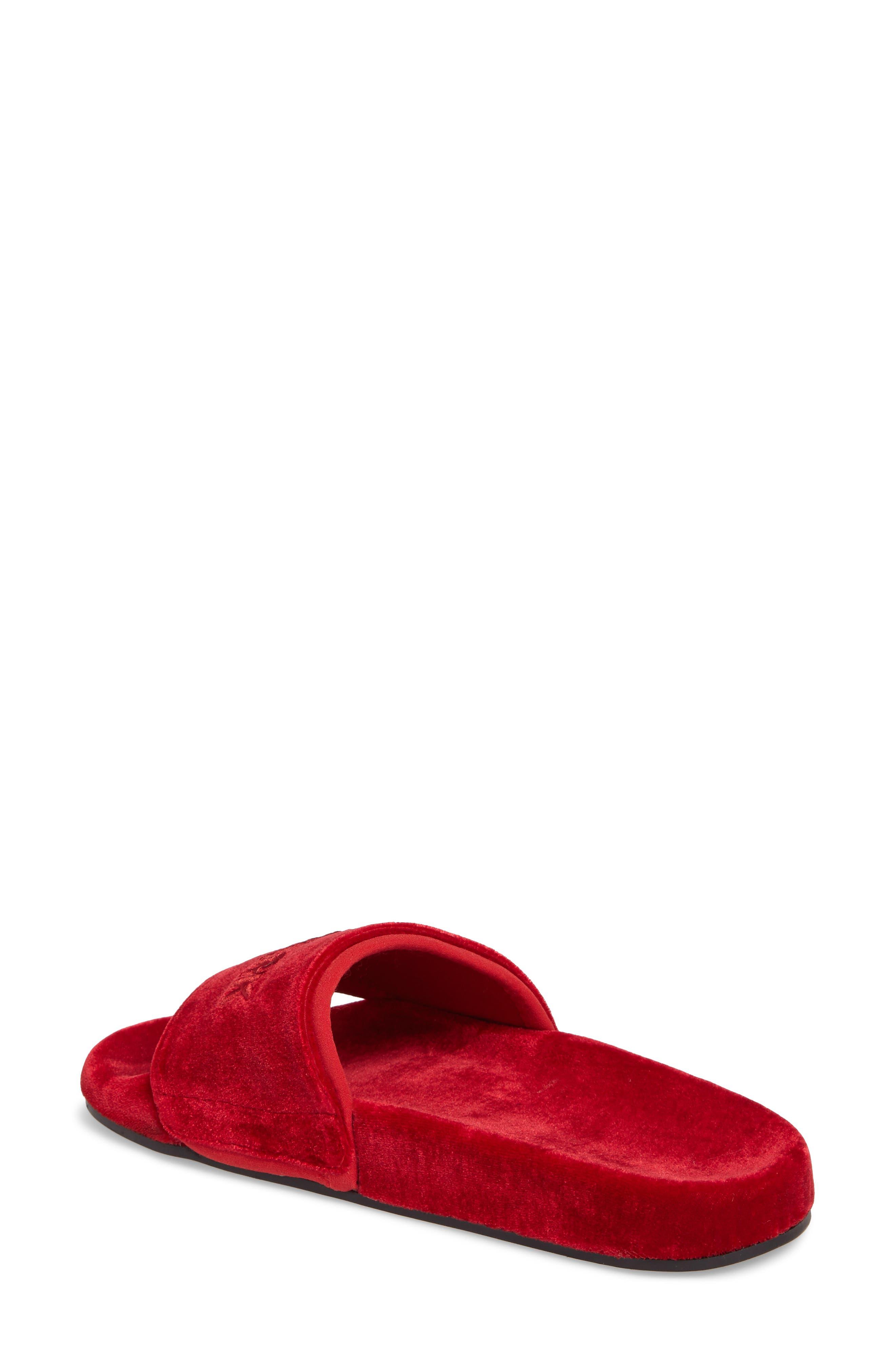 Velvet Embossed Slide Sandal,                             Alternate thumbnail 2, color,                             600