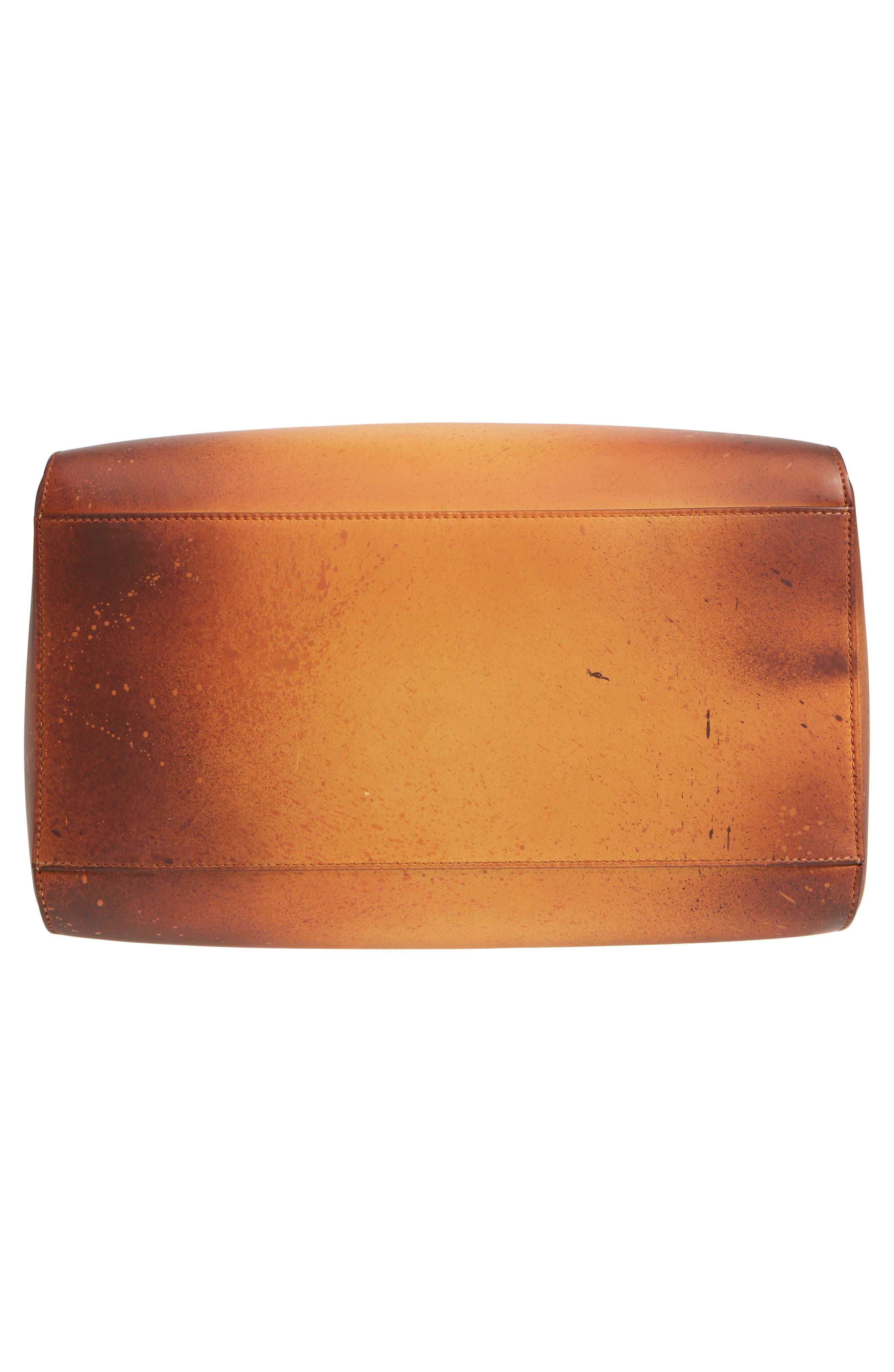 x Andy Warhol Foundation Sandra Brant Calfskin Leather Bucket Bag,                             Alternate thumbnail 6, color,                             AMBER/ BLACK