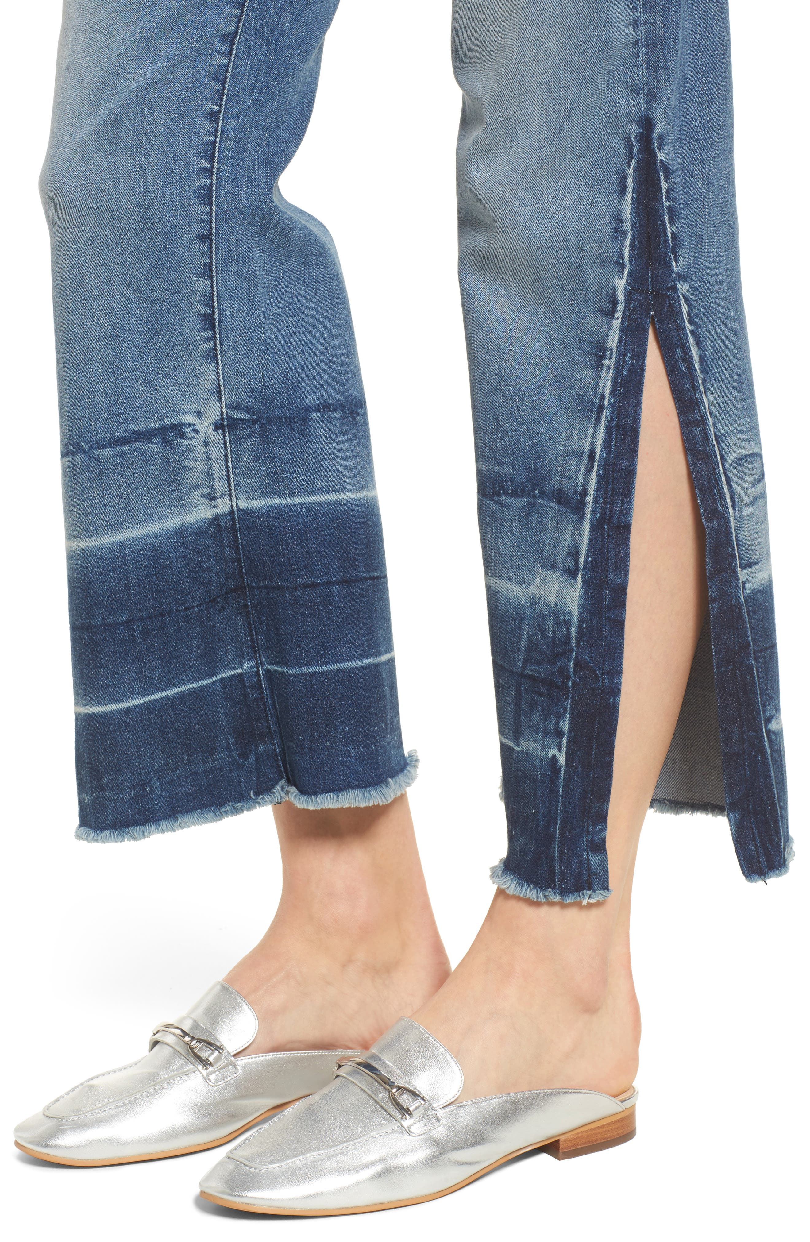 Off-Beat Crop Flare Jeans,                             Alternate thumbnail 4, color,