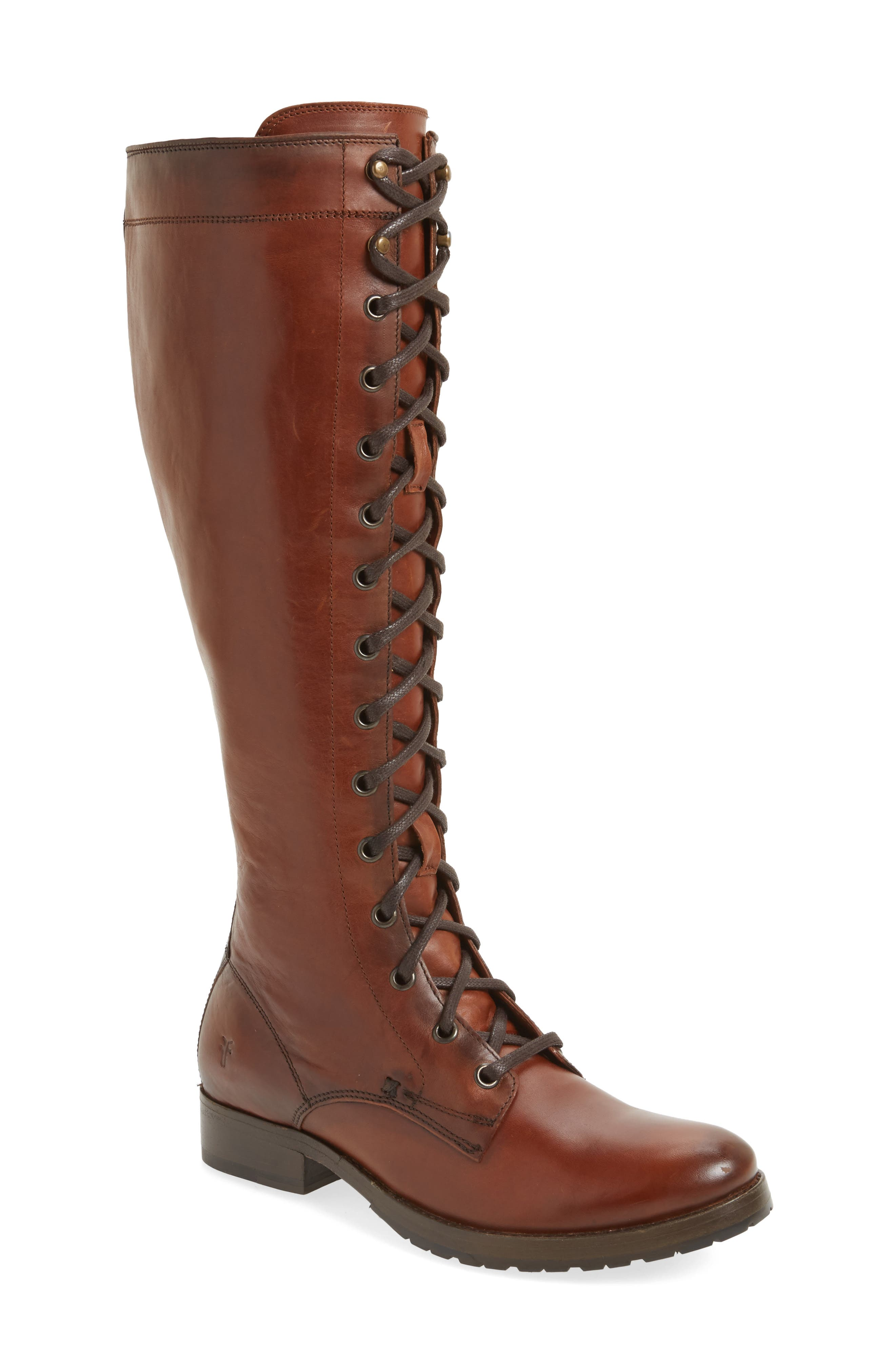 Melissa Tall Lace-Up Boot,                             Main thumbnail 2, color,