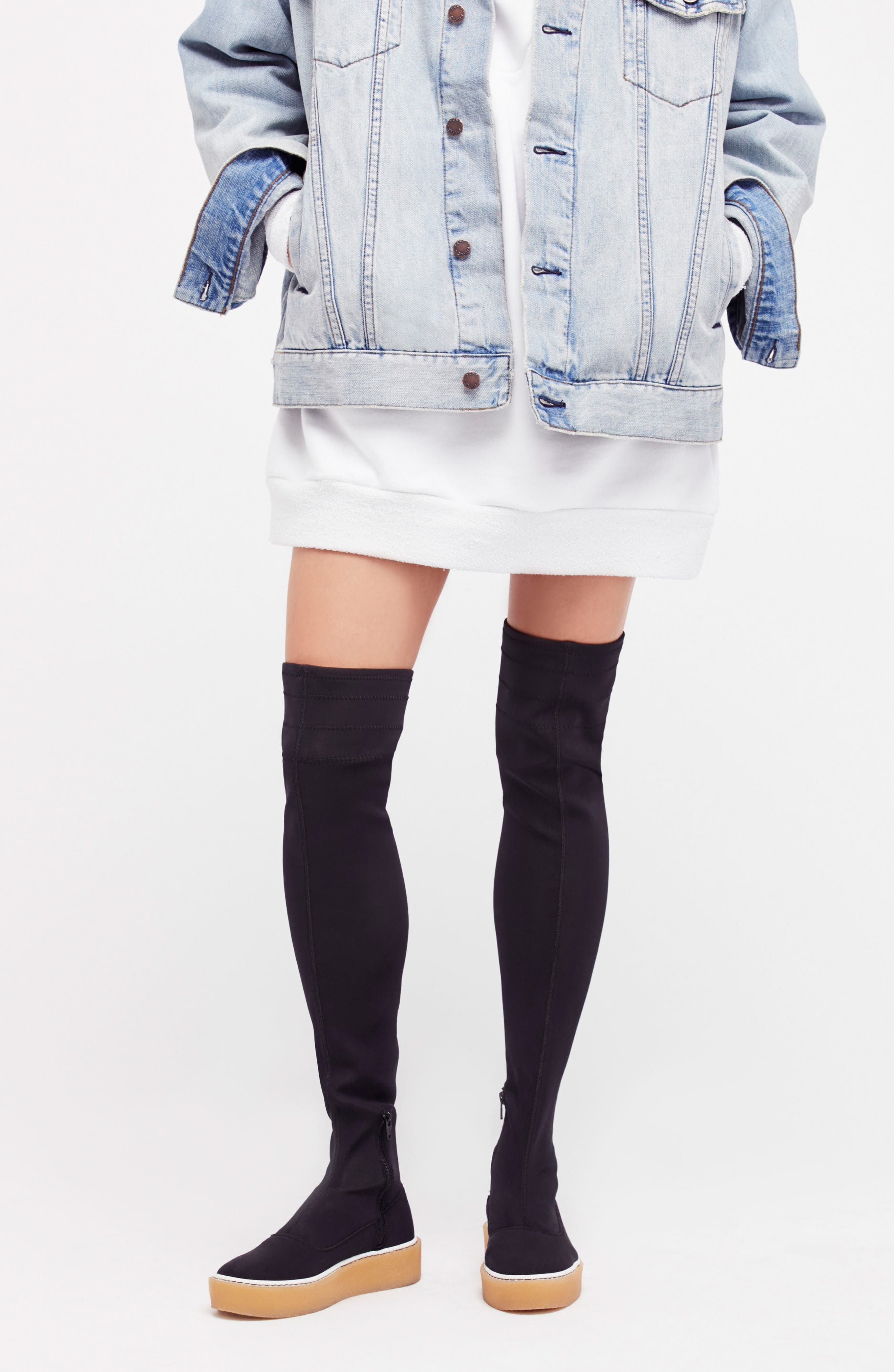 Outer Limits Thigh High Boot,                             Alternate thumbnail 8, color,                             001