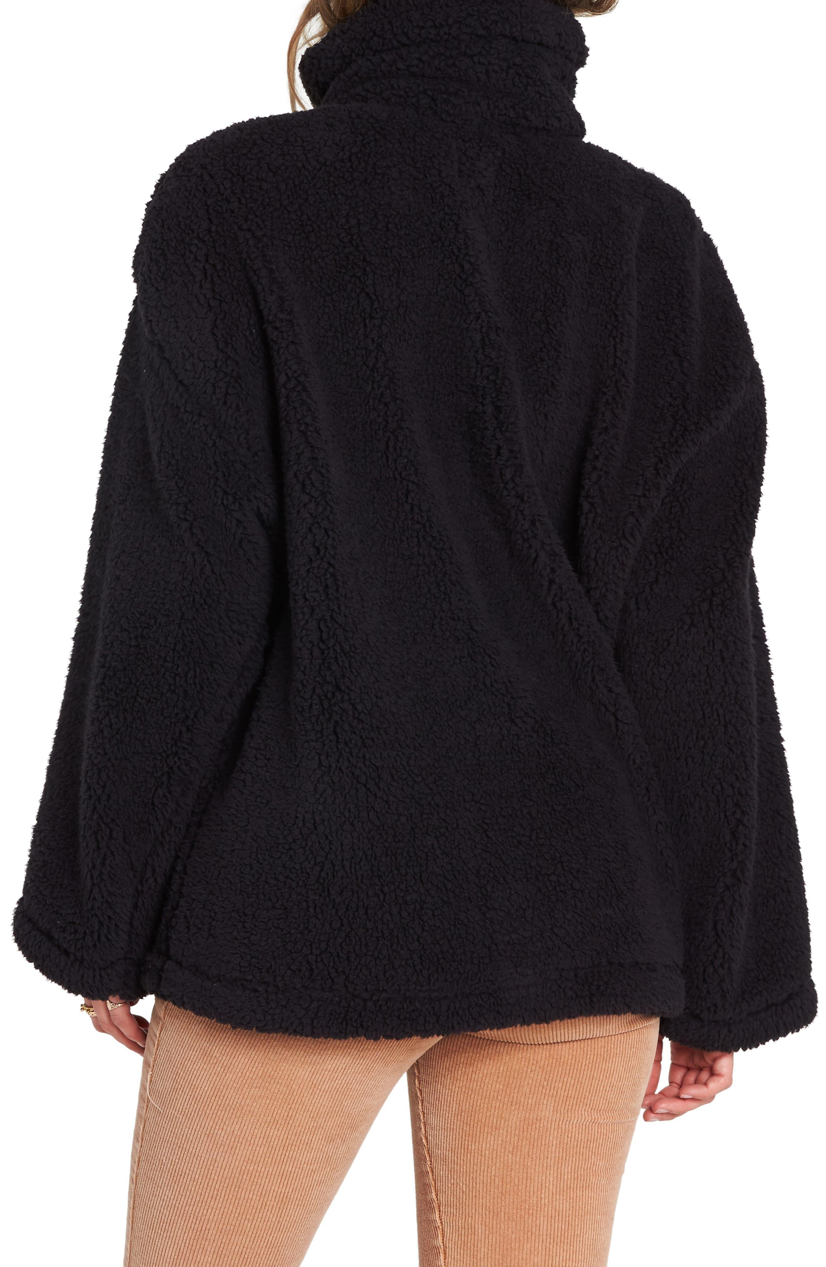 Cozy Days Faux Fur Jacket,                             Alternate thumbnail 2, color,                             BLACK