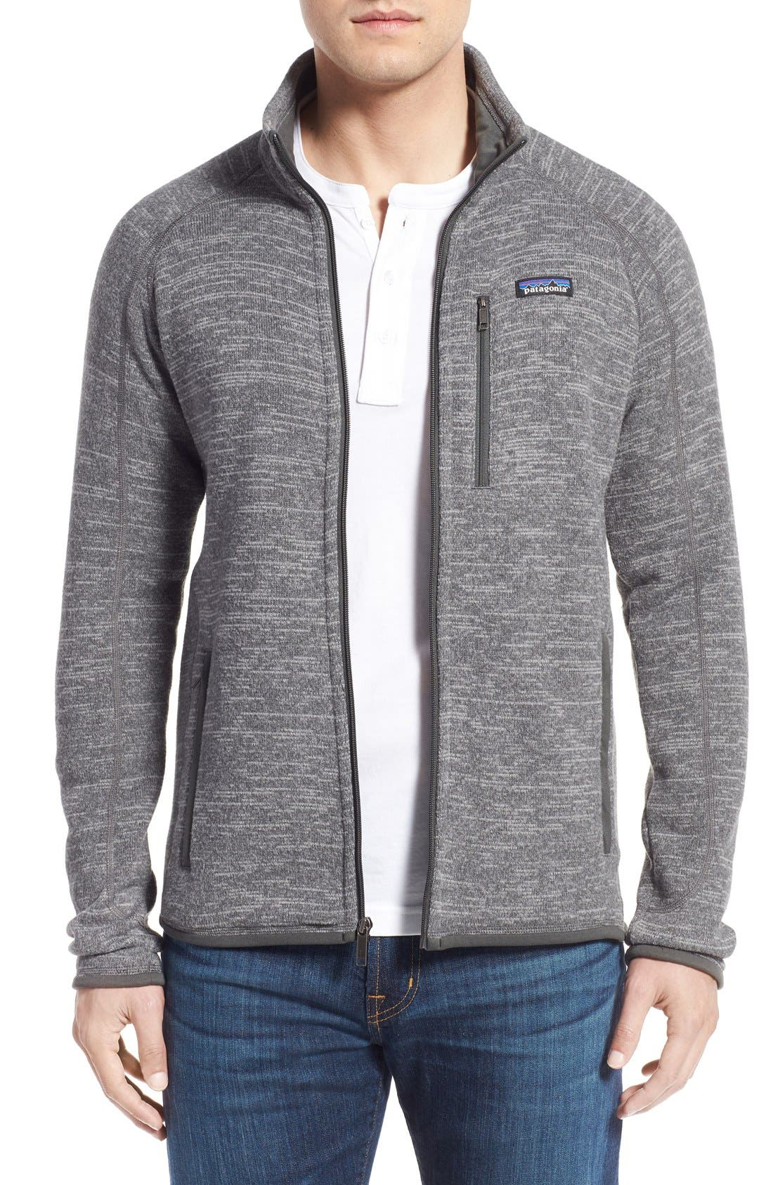 Better Sweater Zip Front Jacket,                             Main thumbnail 1, color,                             NICKEL/ FORGE GREY