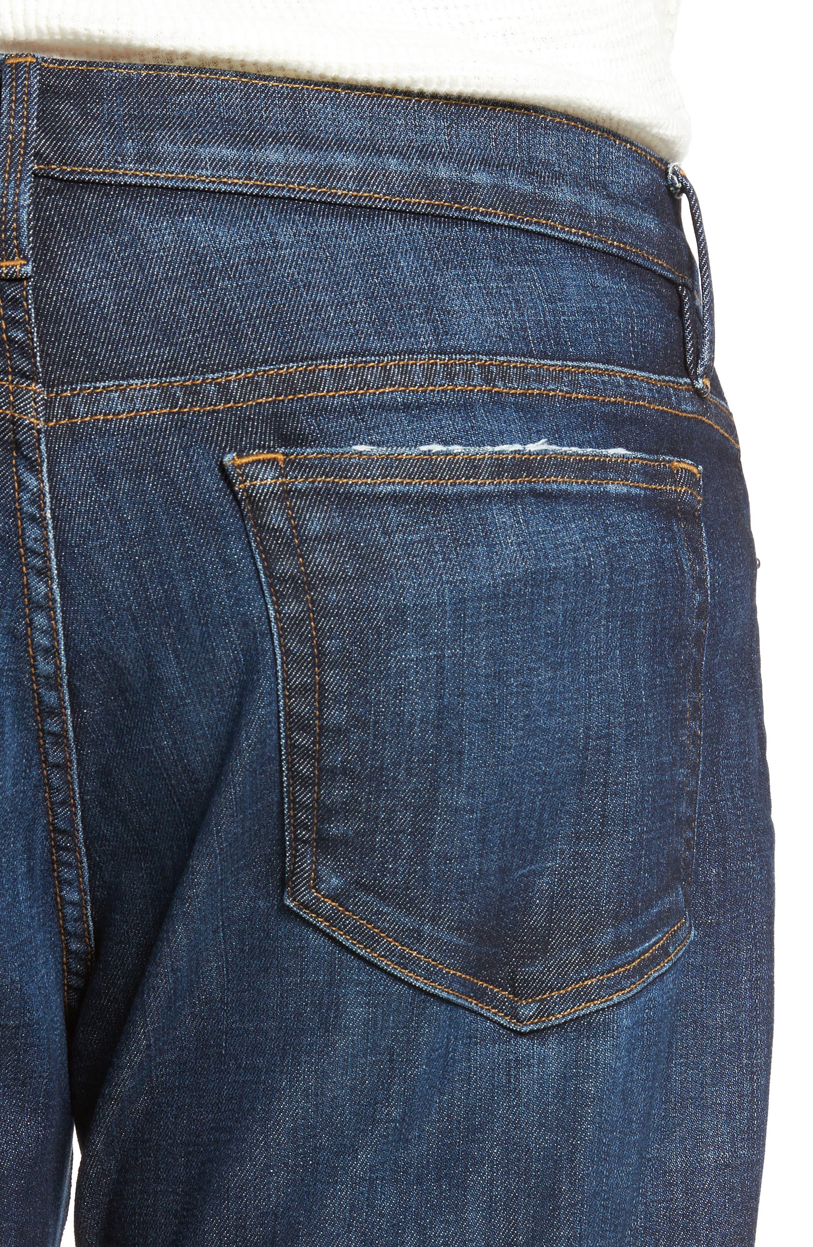 L'Homme Slim Straight Leg Jeans,                             Alternate thumbnail 4, color,                             401