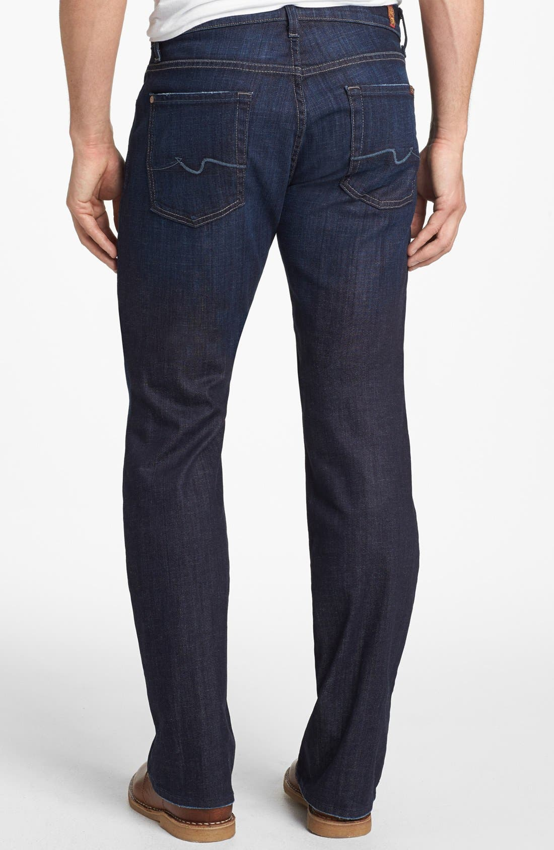 'Brett' Relaxed Bootcut Jeans,                             Alternate thumbnail 4, color,                             LOS ANGELES