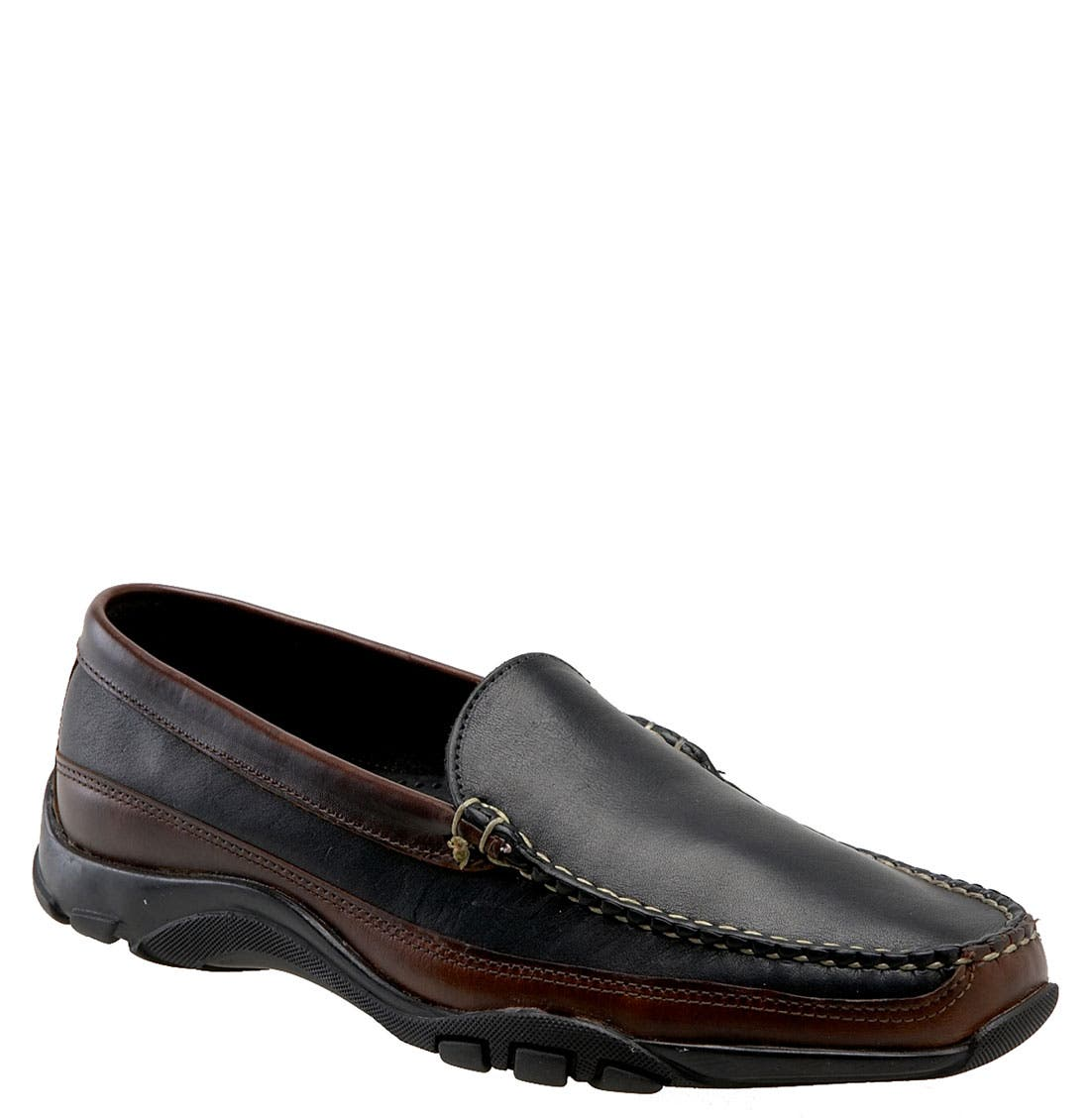 ALLEN EDMONDS,                             'Boulder' Driving Loafer,                             Main thumbnail 1, color,                             Black/Brown