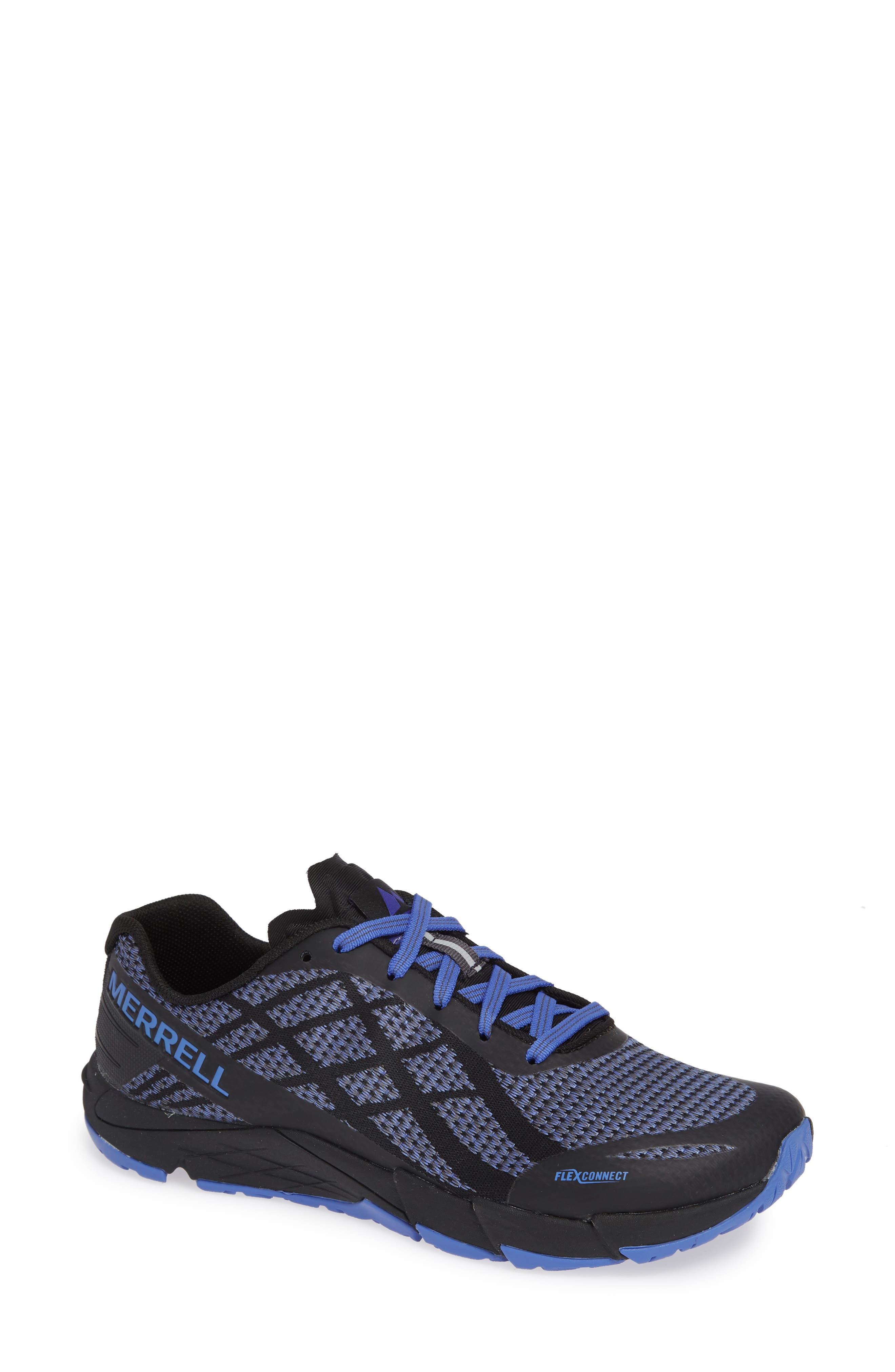 MERRELL,                             Bare Access Flex Shield Lace-Up Sneaker,                             Main thumbnail 1, color,                             BLACK AND WHITE FABRIC