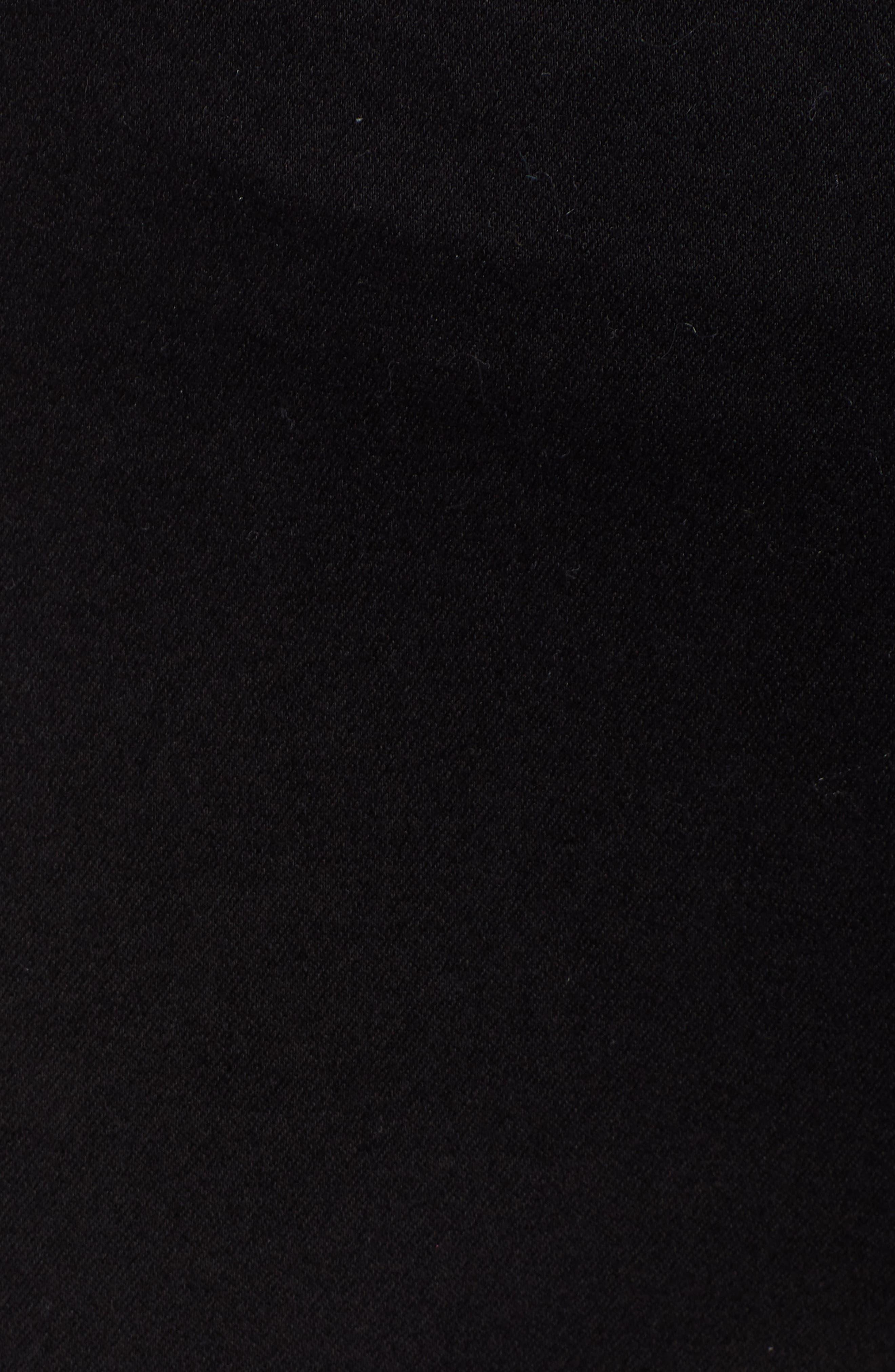 HUE,                             High Waist Mesh Tuxedo Stripe Denim Leggings,                             Alternate thumbnail 6, color,                             BLACK