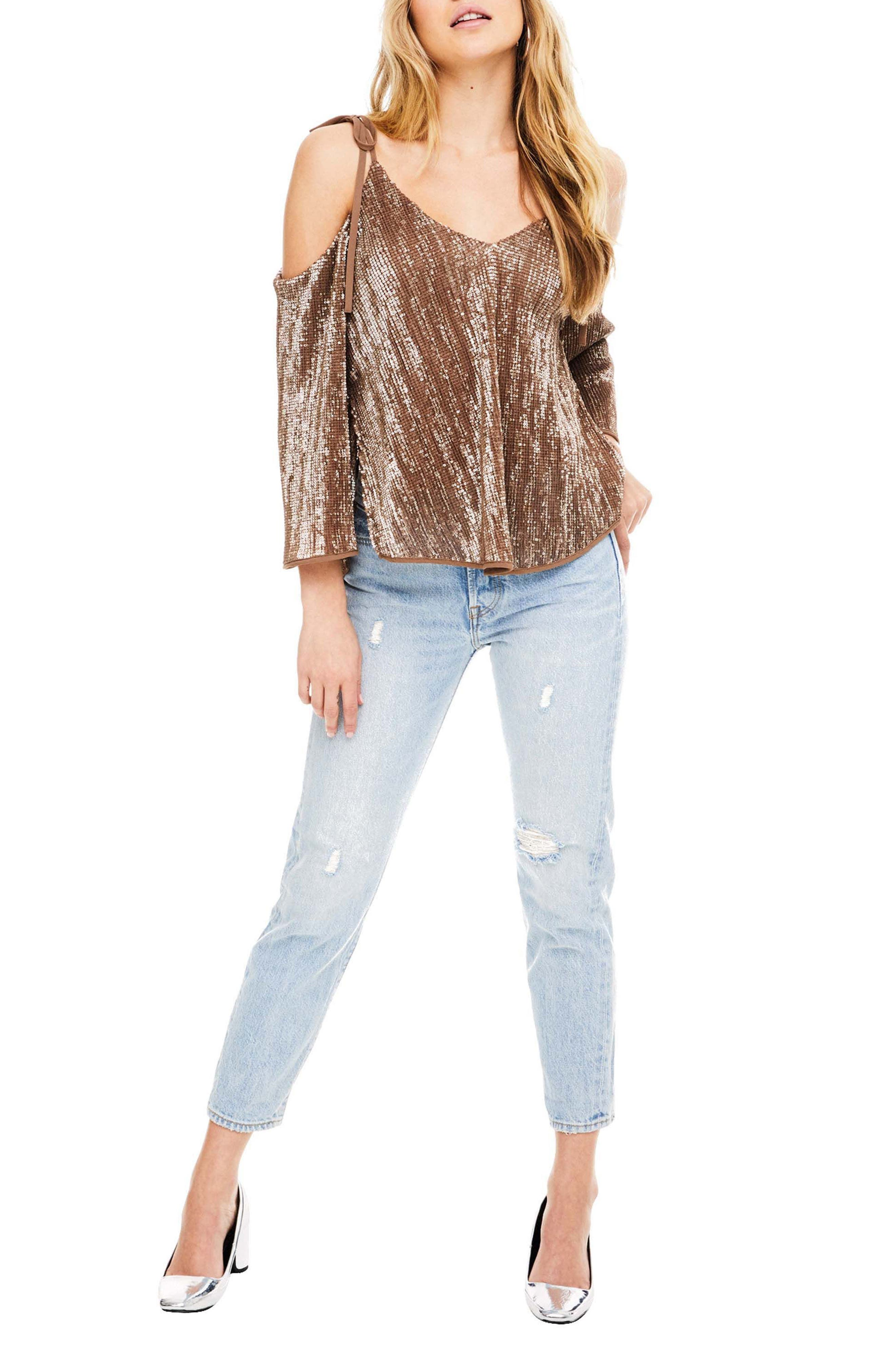 Adison Cold Shoulder Top,                             Main thumbnail 1, color,
