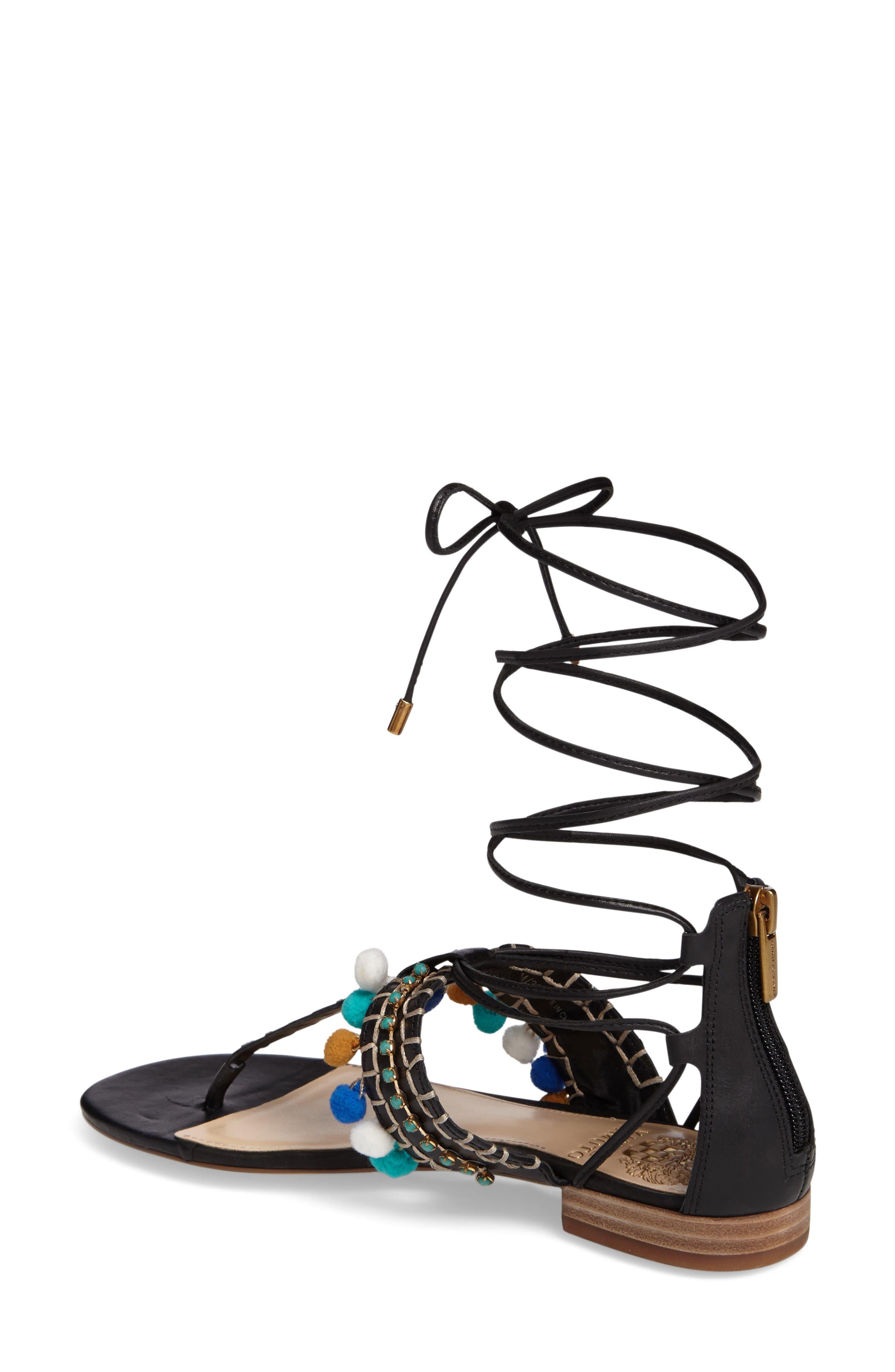 Balisa Embellished Lace-Up Sandal,                             Alternate thumbnail 2, color,                             001
