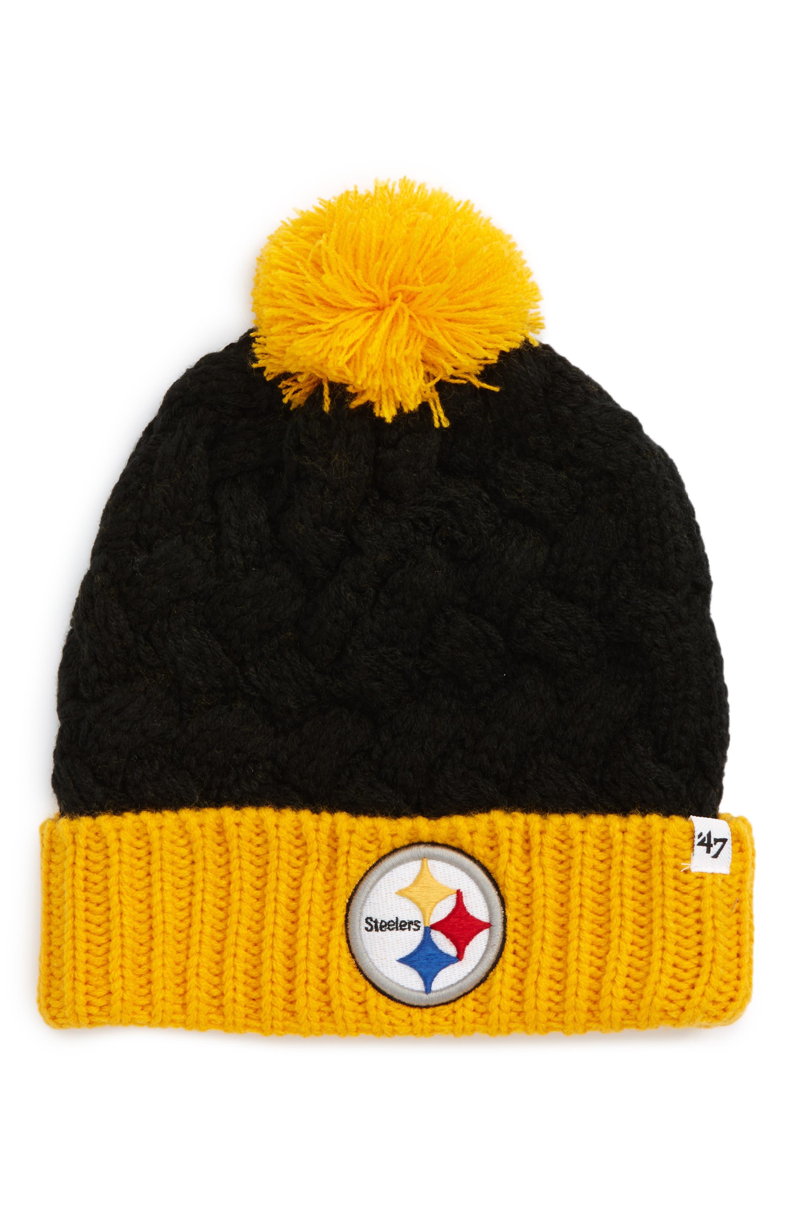 Matterhorn Pittsburgh Steelers Beanie,                             Main thumbnail 1, color,                             001