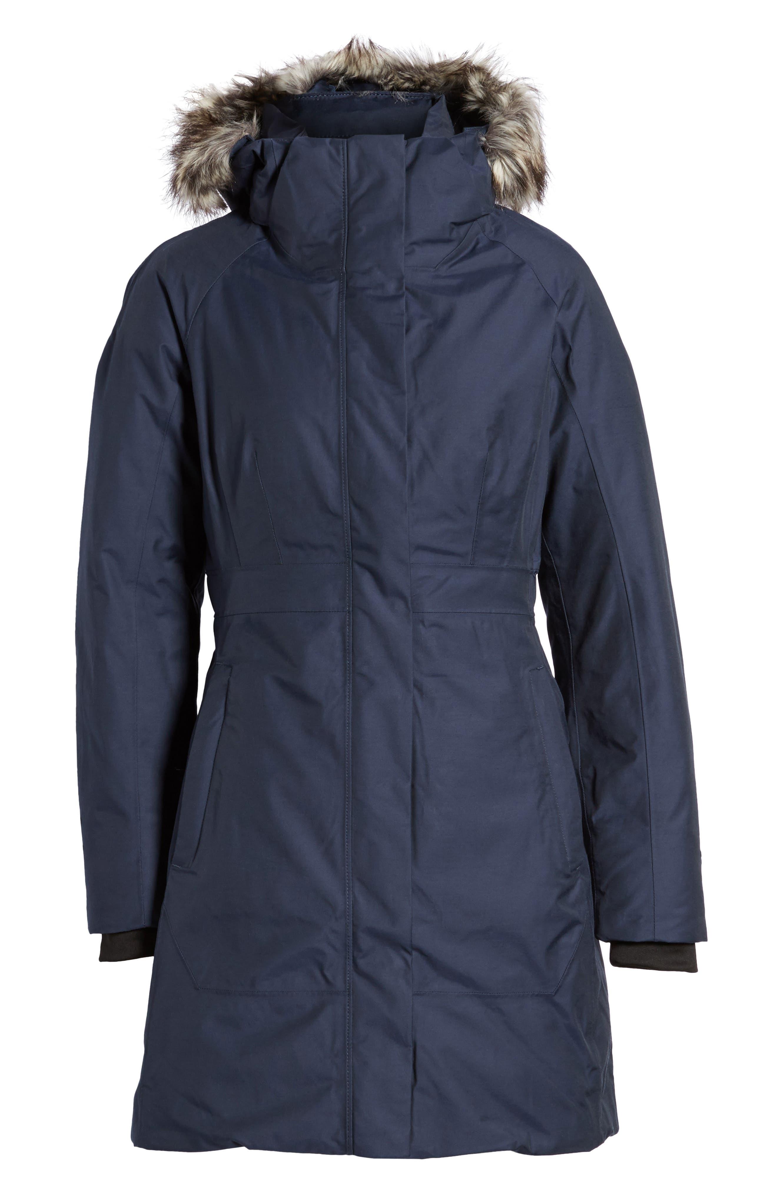 Arctic II Waterproof 550-Fill-Power Down Parka with Faux Fur Trim,                             Alternate thumbnail 21, color,