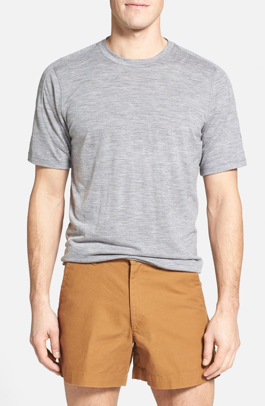 Regular Fit Overdyed Merino Wool T-Shirt,                         Main,                         color, 020