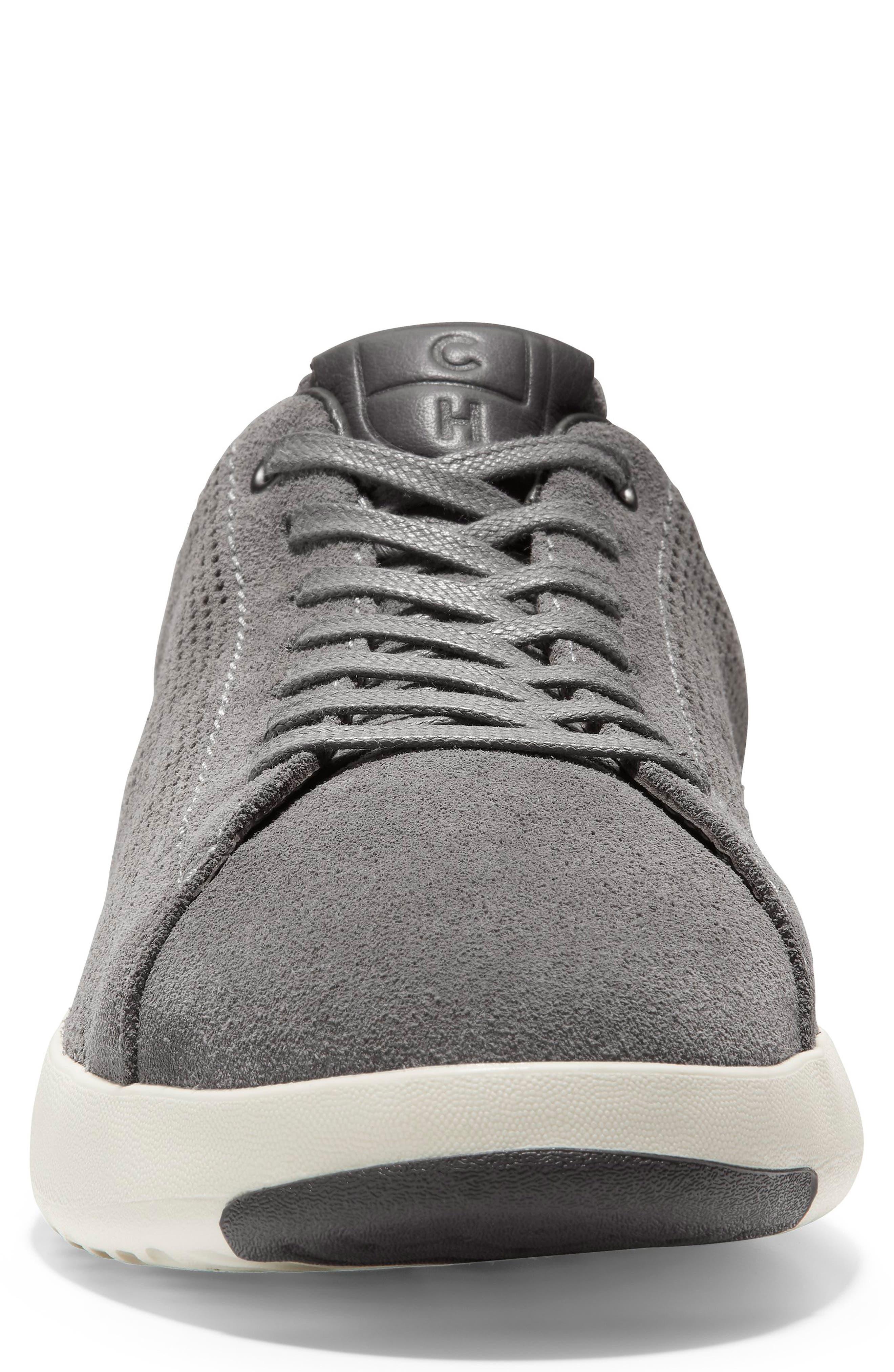 GrandPro Tennis Sneaker,                             Alternate thumbnail 4, color,                             GREY SUEDE