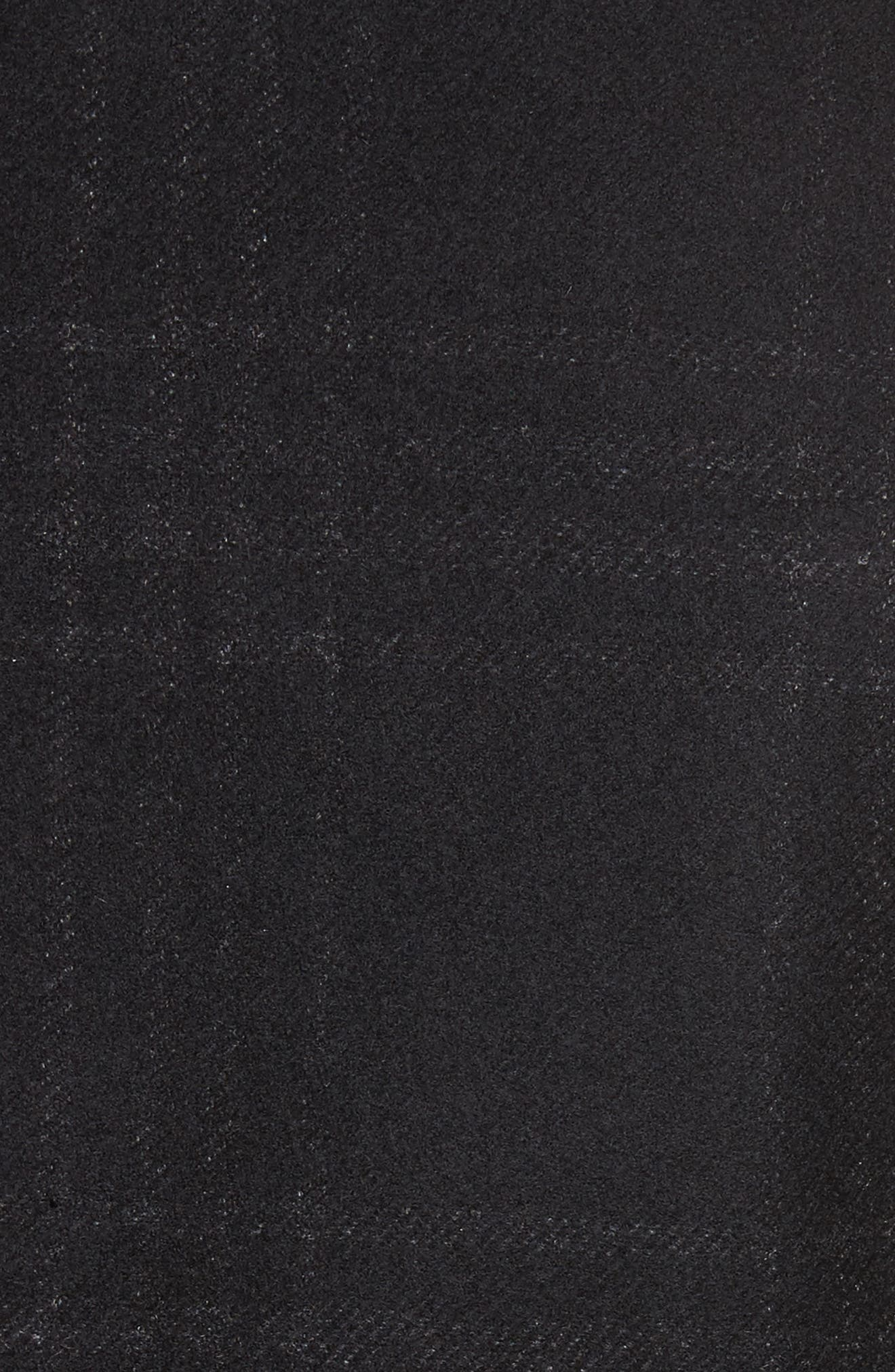 Hook Plaid Wool Blend Topcoat,                             Alternate thumbnail 5, color,                             001