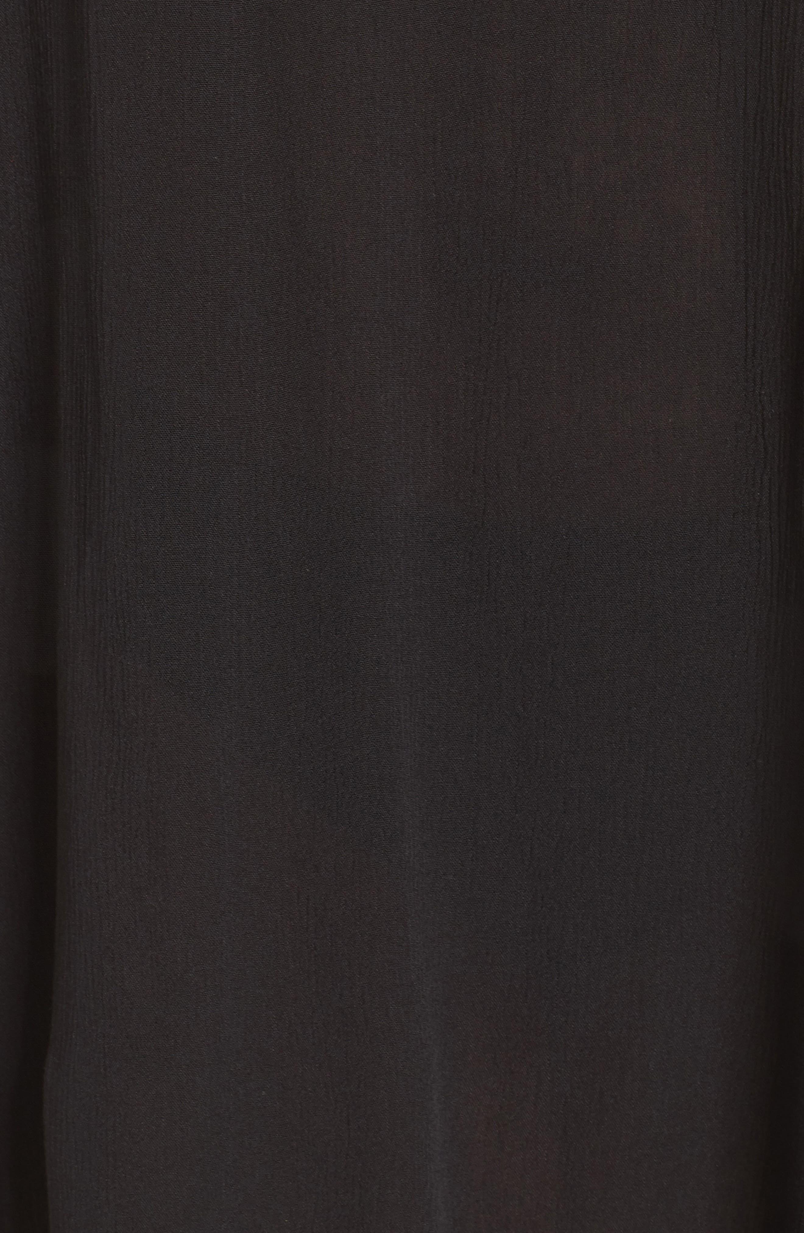 Southern Belle Off the Shoulder Cover-Up Dress,                             Alternate thumbnail 5, color,                             001