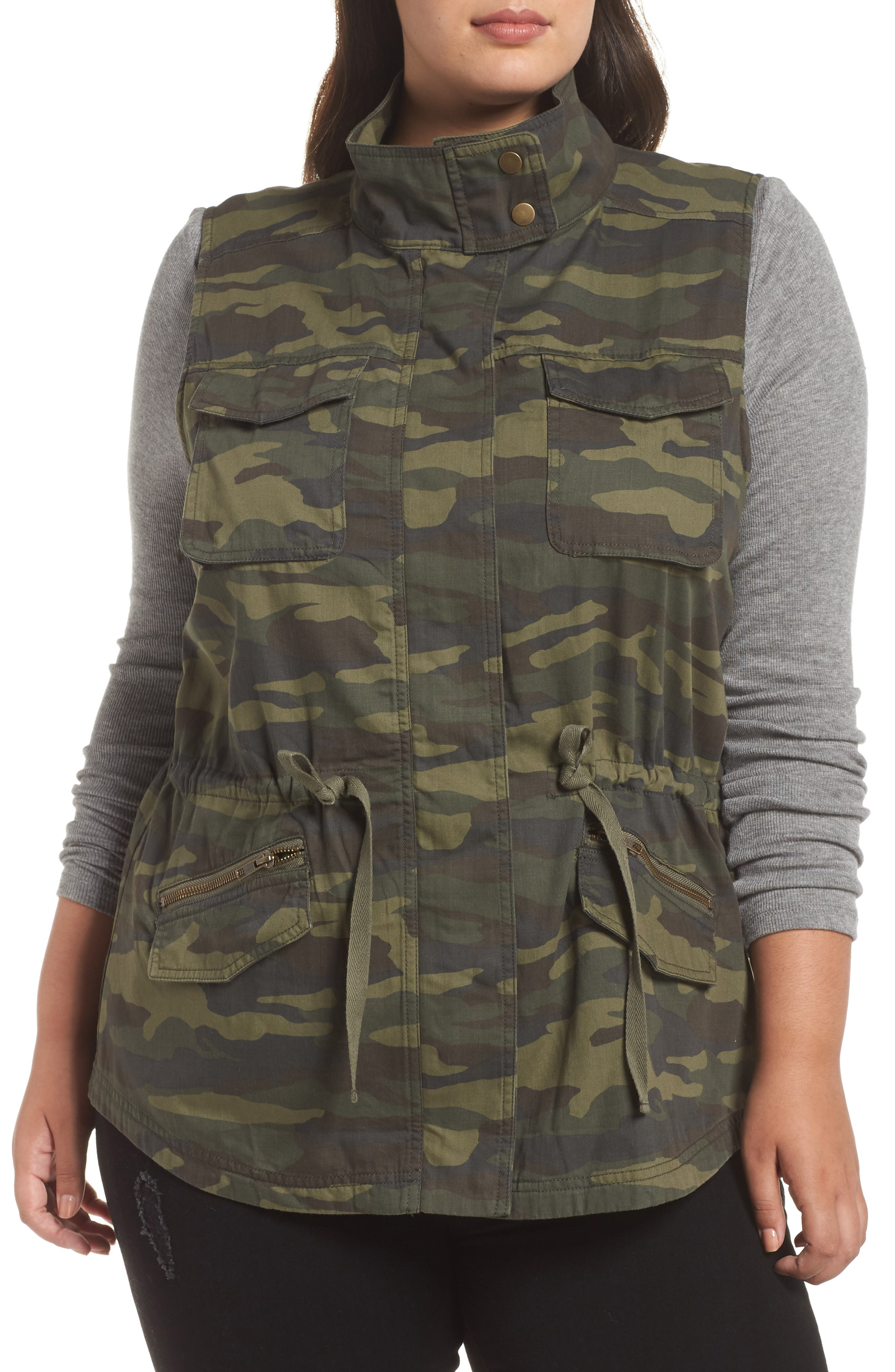 Utility Vest,                             Alternate thumbnail 4, color,                             OLIVE LG CAMO PRT