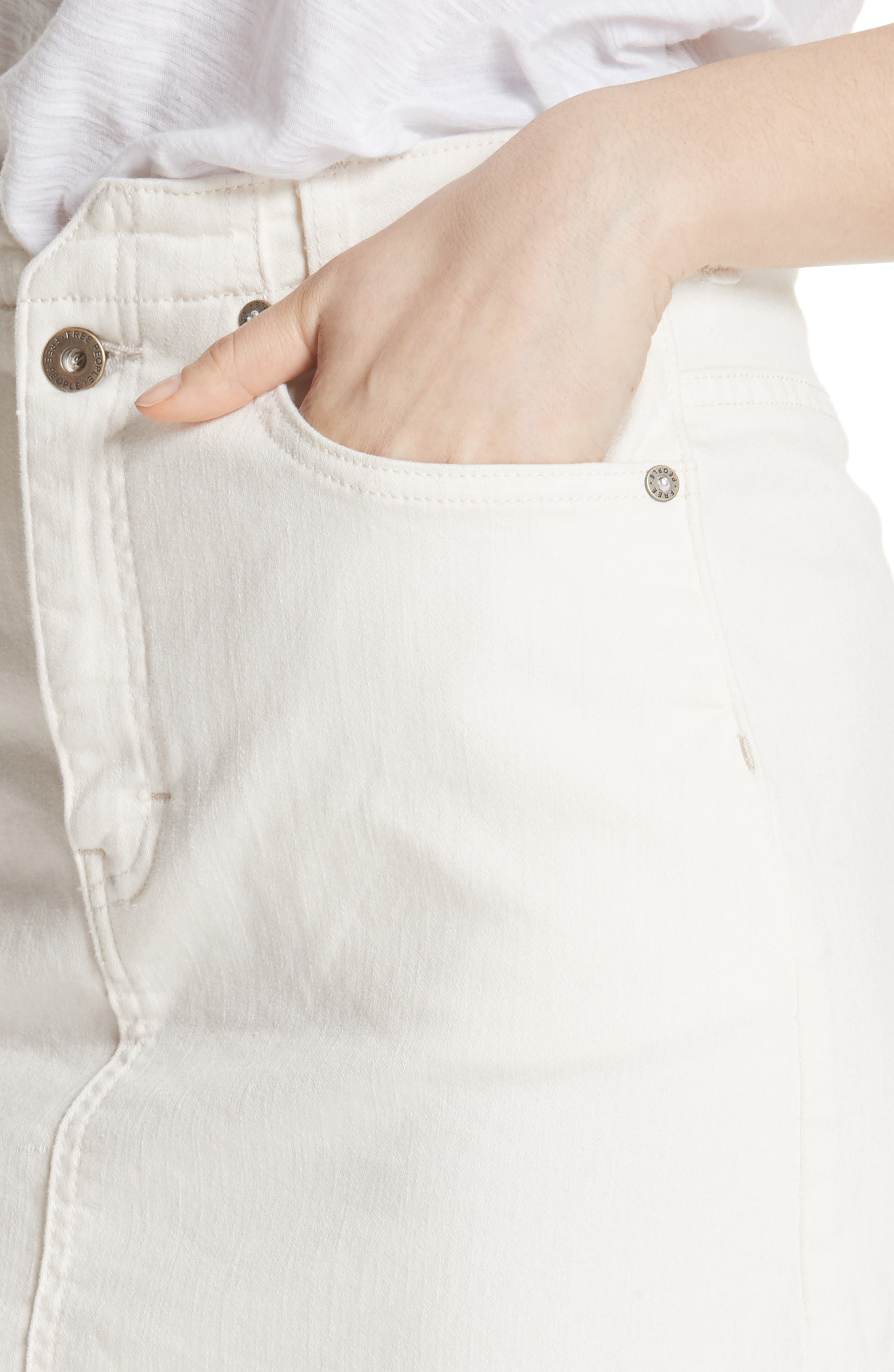 She's All That Denim Skirt,                             Alternate thumbnail 4, color,                             WHITE