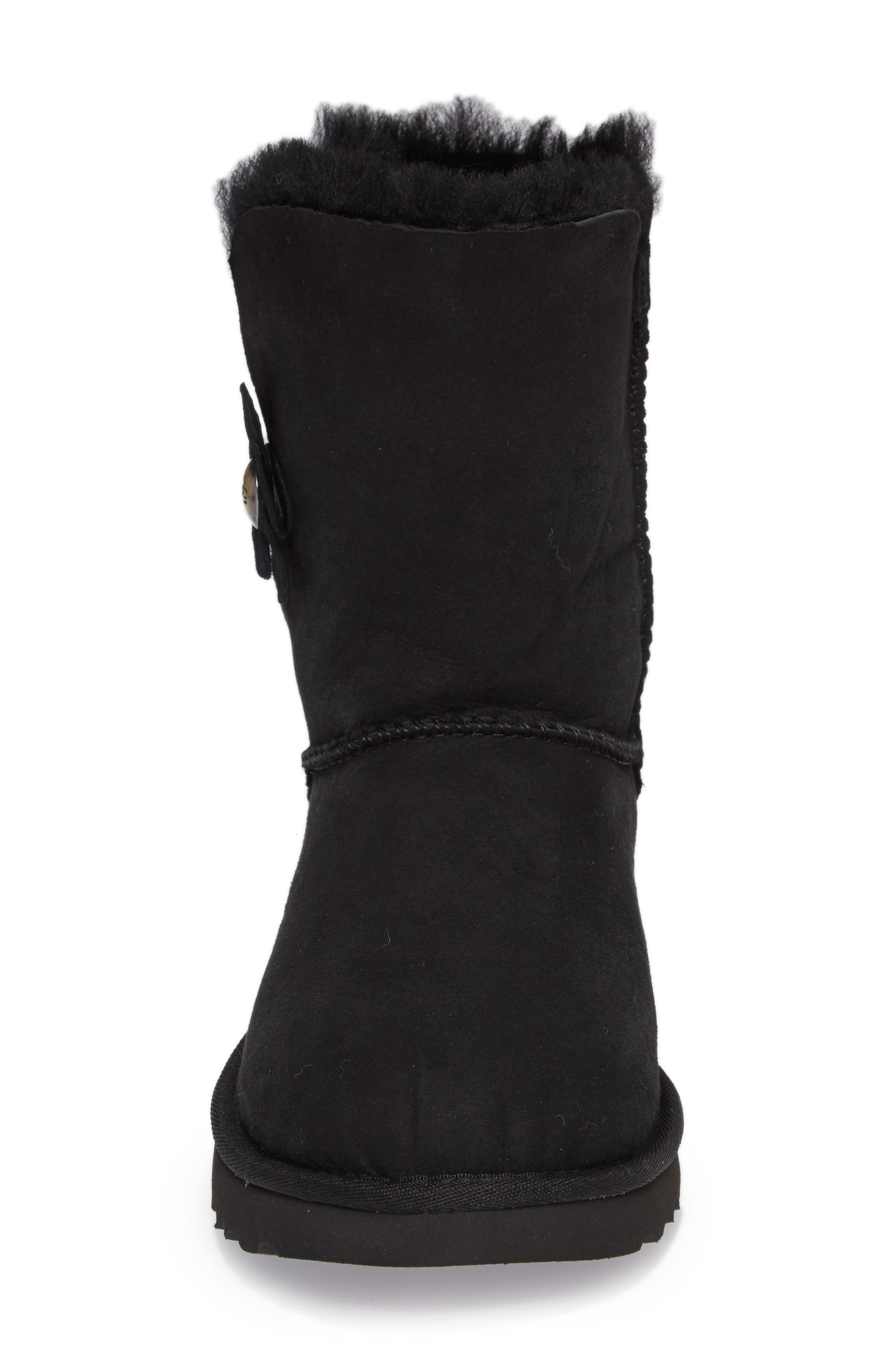 Bailey Button Poppy Genuine Shearling Boot,                             Alternate thumbnail 4, color,                             001