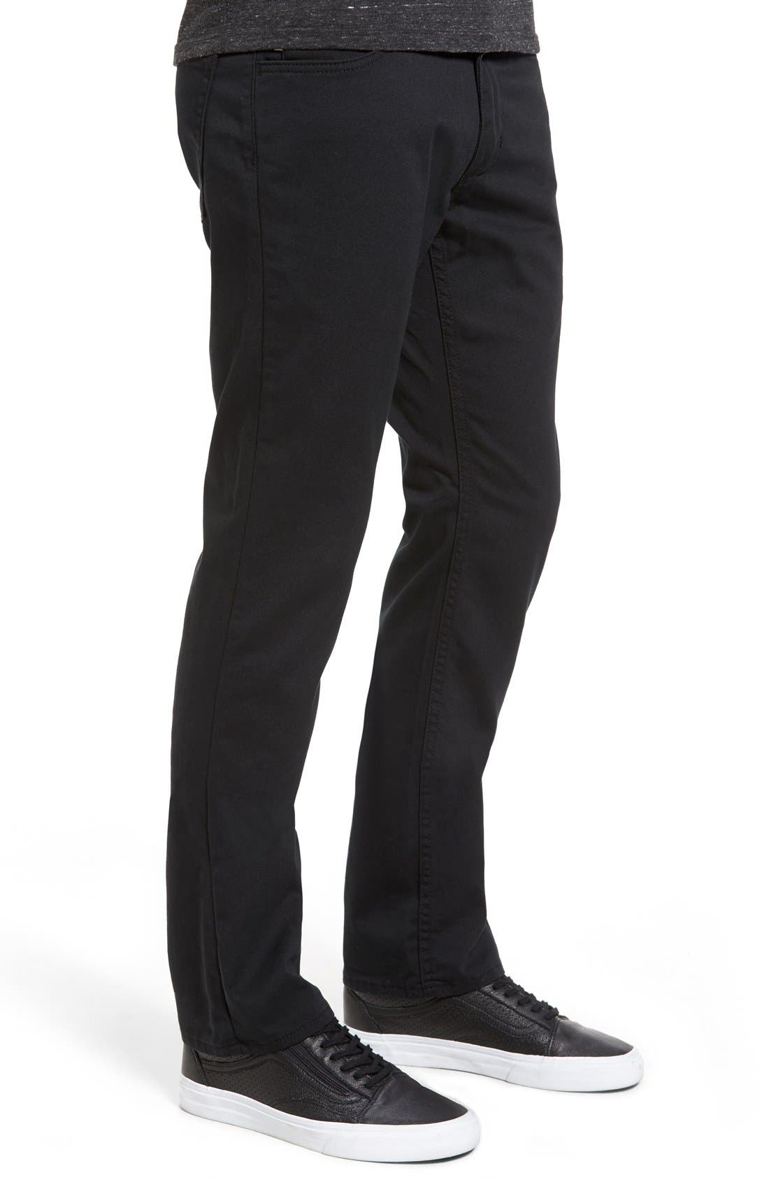 V56 Covina II Slim Fit Pants,                             Alternate thumbnail 7, color,                             001