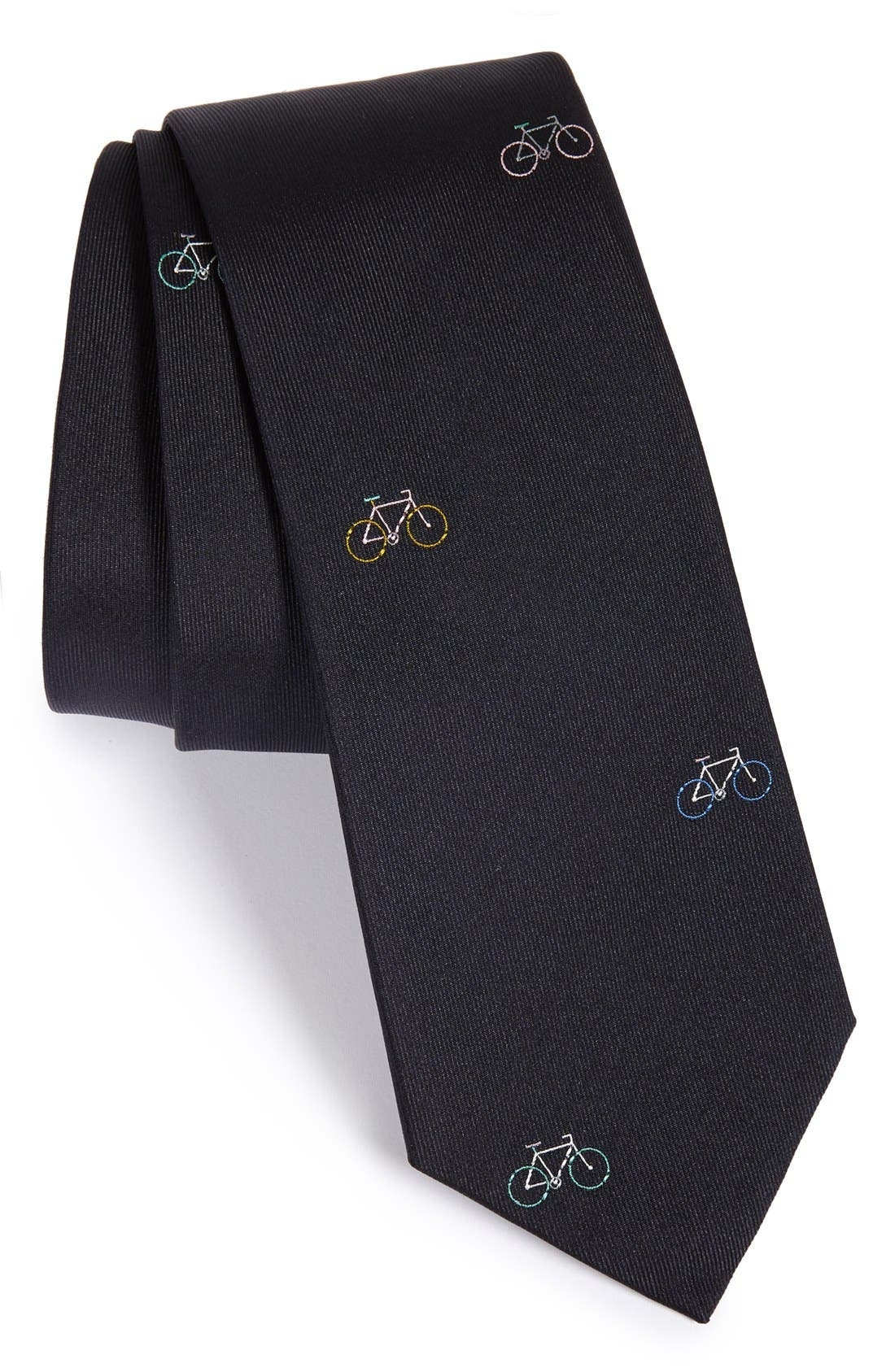 'Bicycle' Silk Tie, Main, color, 414