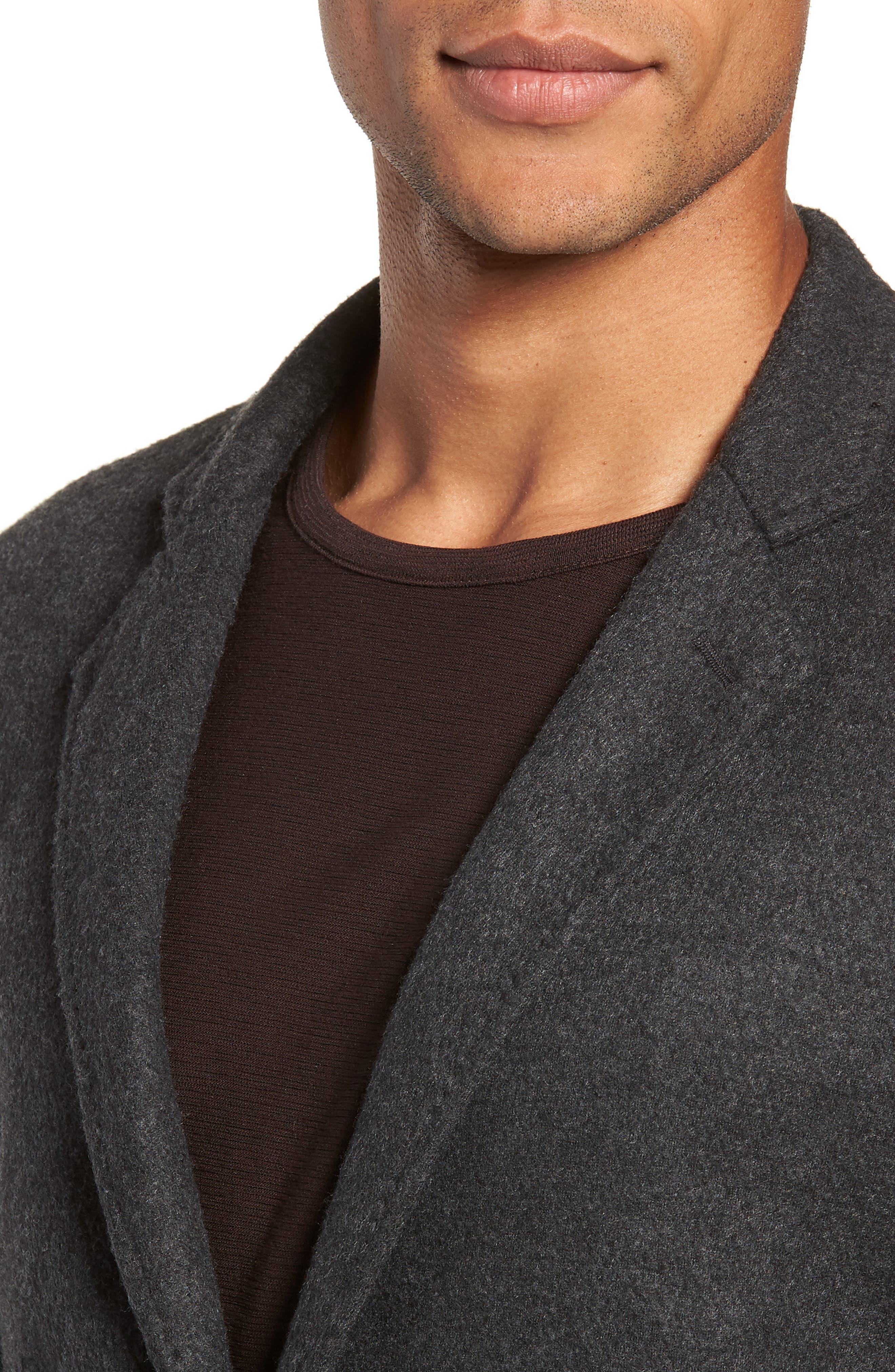 Dylan Regular Fit Sport Coat,                             Alternate thumbnail 4, color,                             CHARCOAL