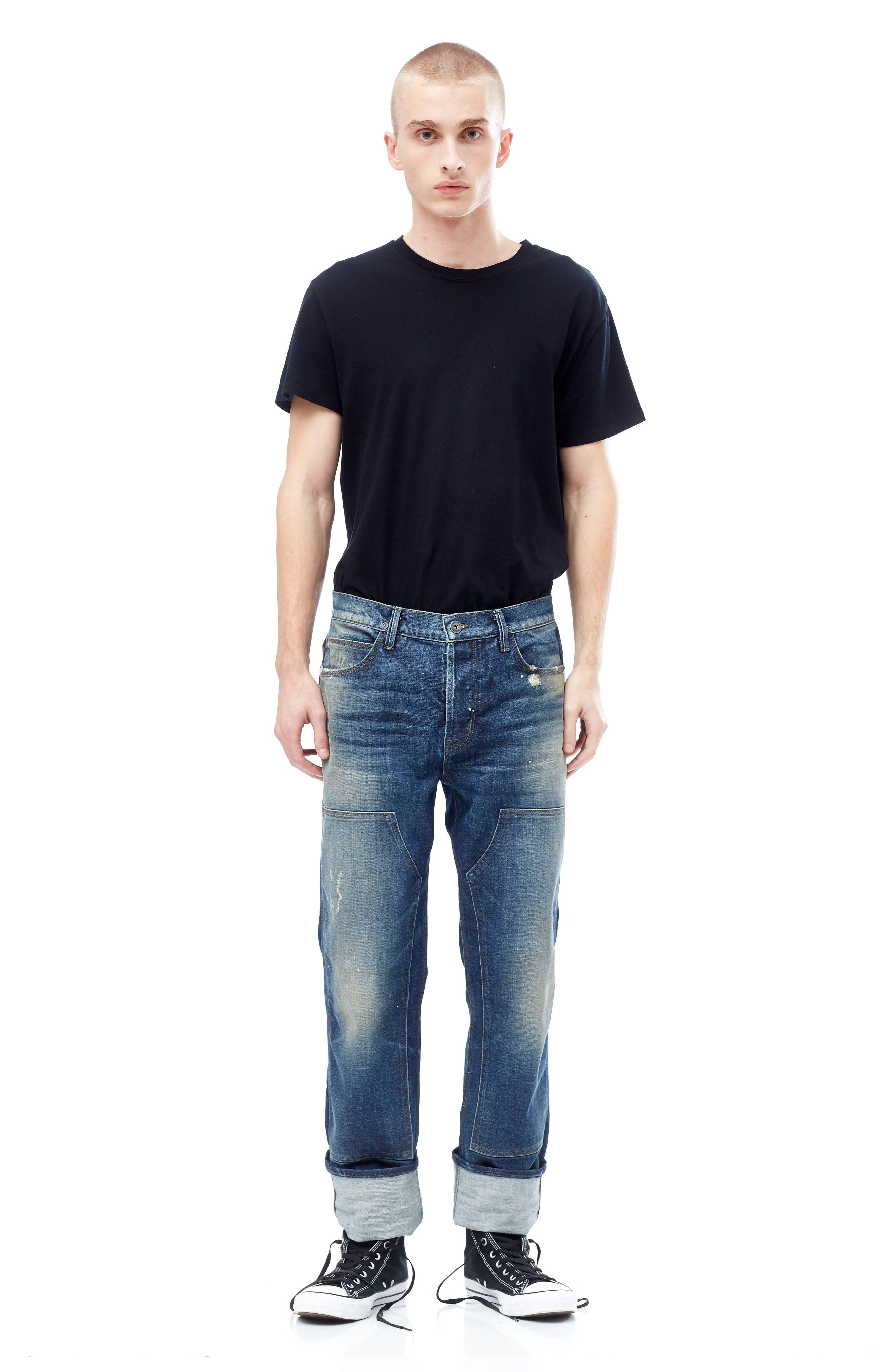 Hunter Straight Fit Jeans,                             Alternate thumbnail 8, color,                             422