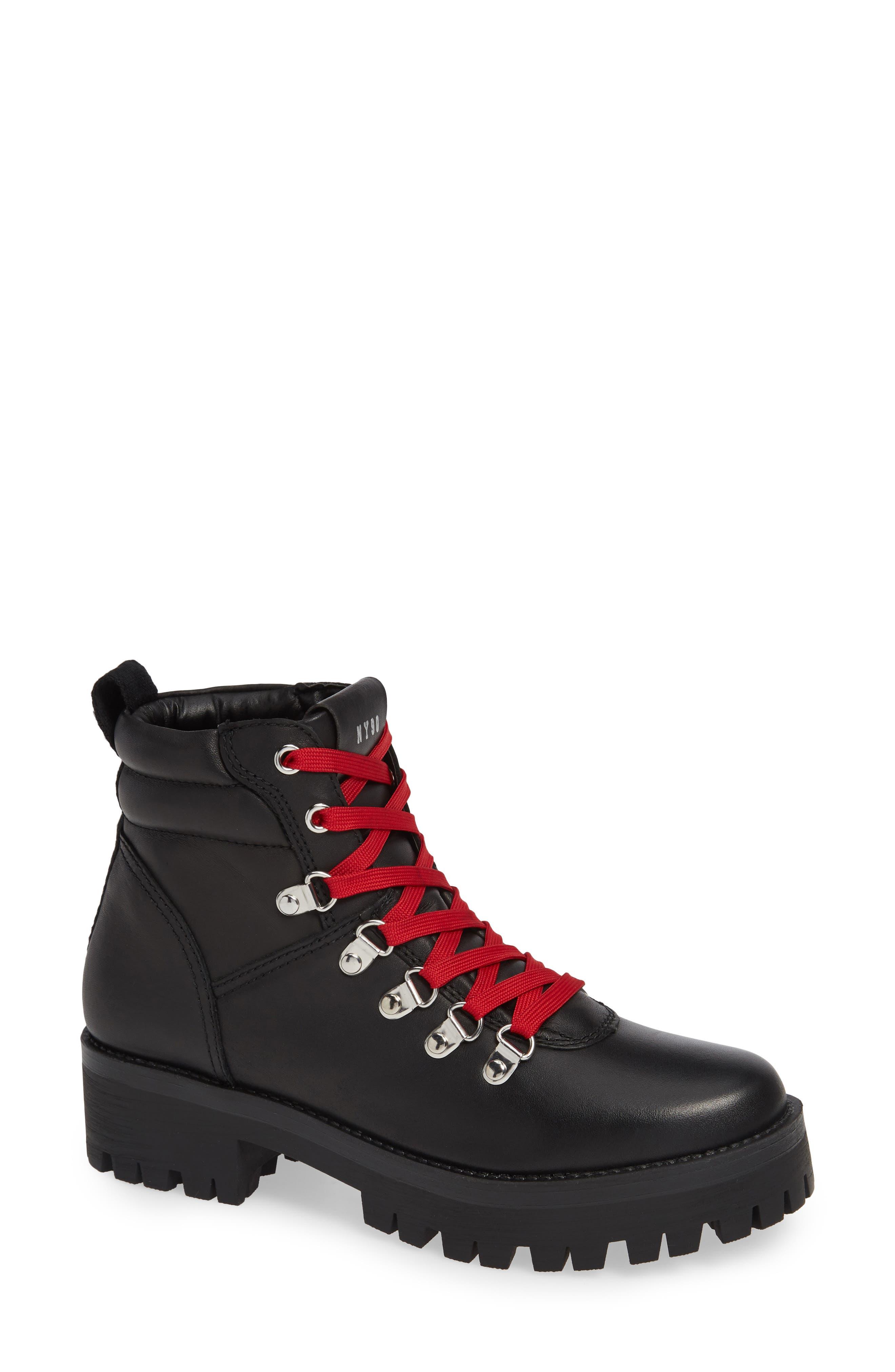 Buzzer Boot,                             Main thumbnail 1, color,                             BLACK LEATHER