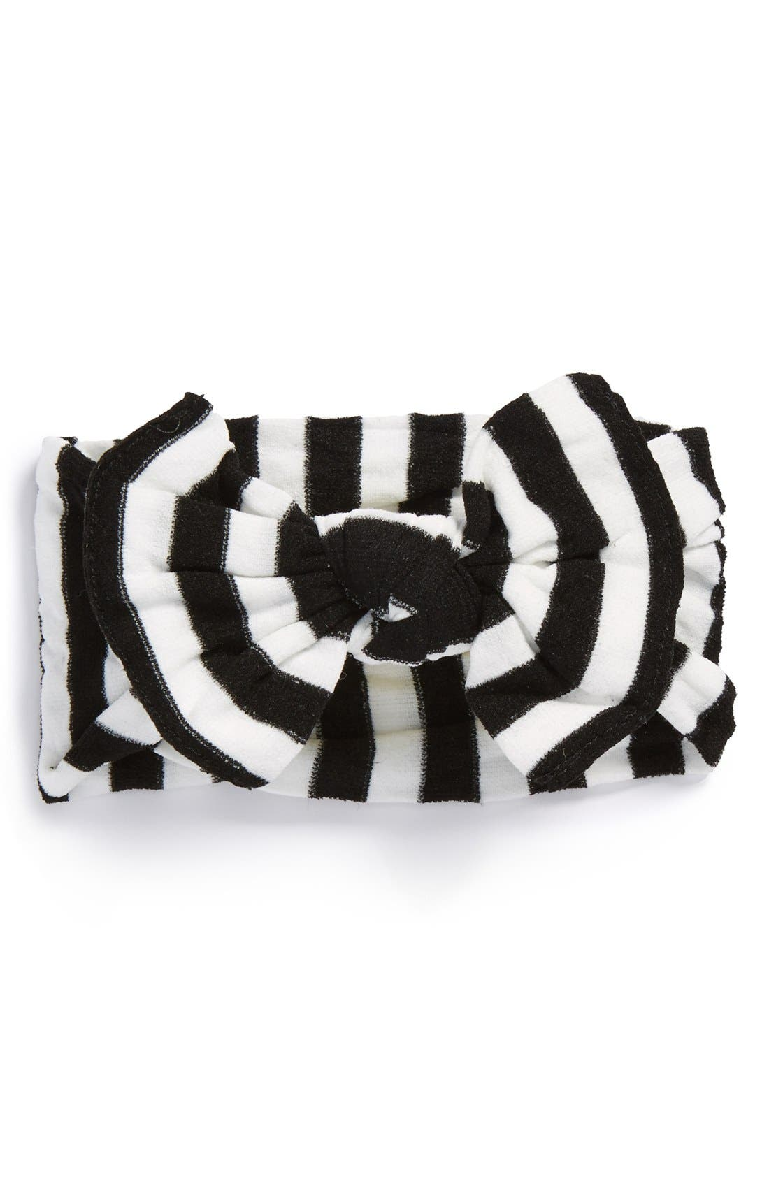 BABY BLING Stripe Headband, Main, color, BLACK