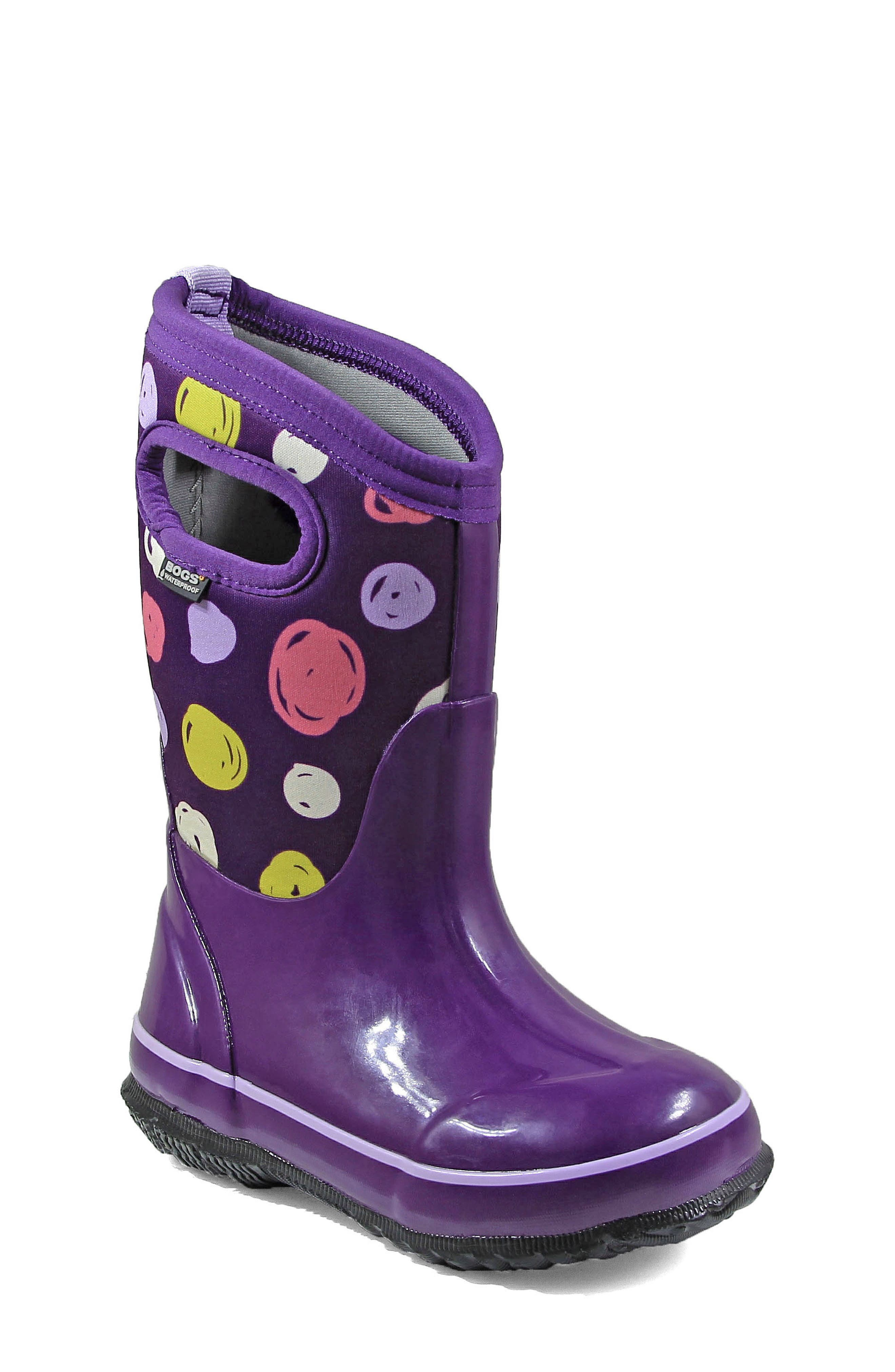 Classic Sketched Dots Insulated Waterproof Boot,                         Main,                         color,