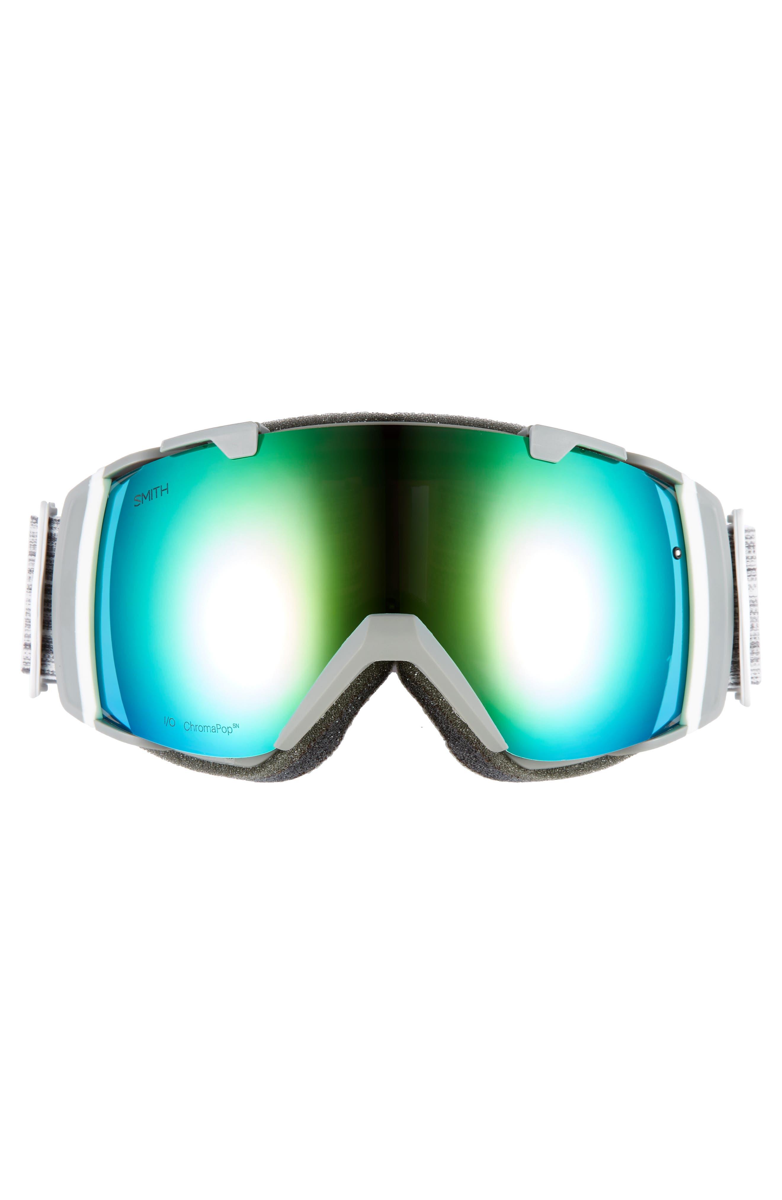 SMITH,                             I/O 215mm ChromaPop Snow Goggles,                             Alternate thumbnail 2, color,                             CLOUD GREY