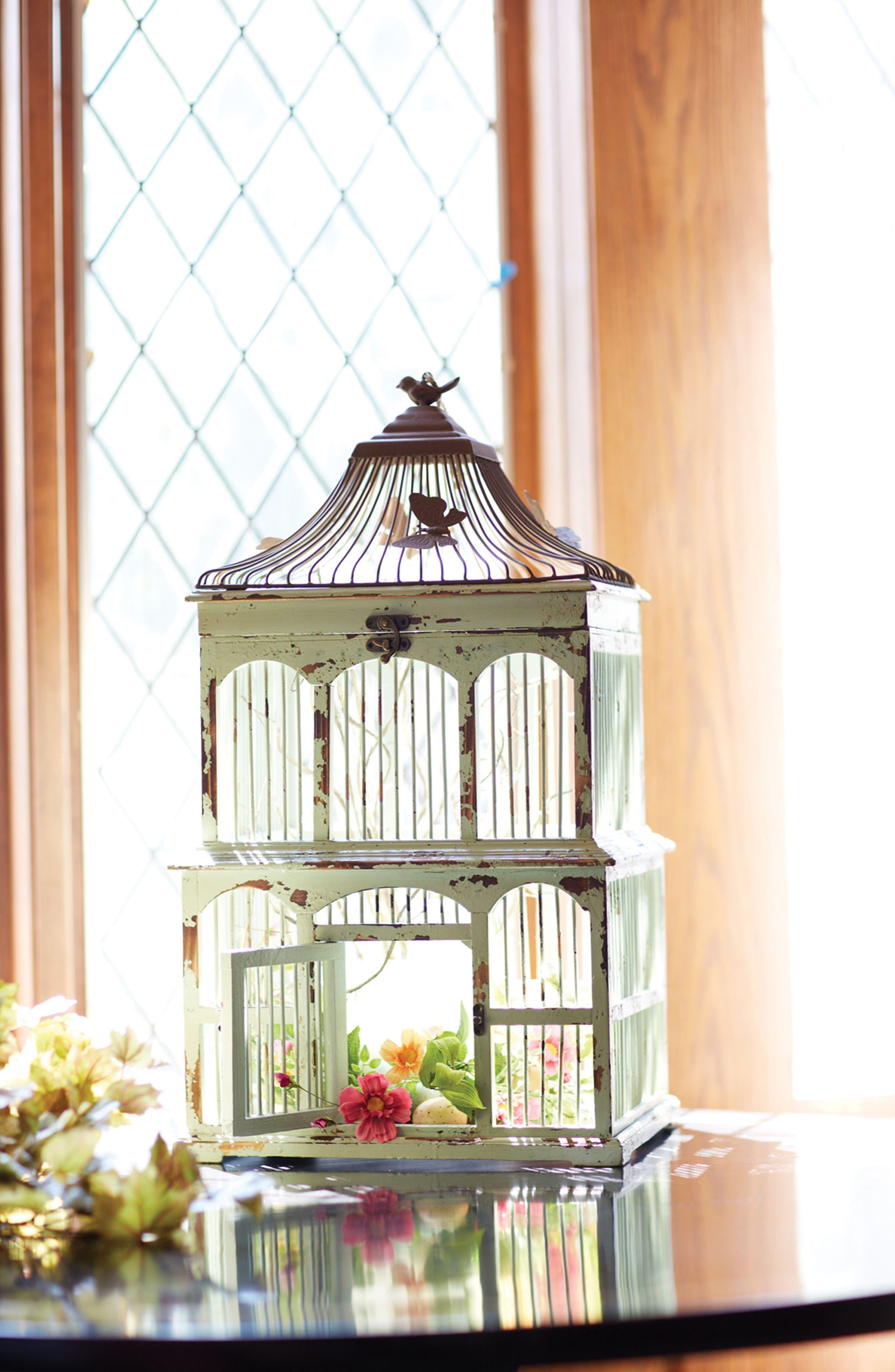 Decorative Bird Cage,                             Alternate thumbnail 2, color,                             BLUE