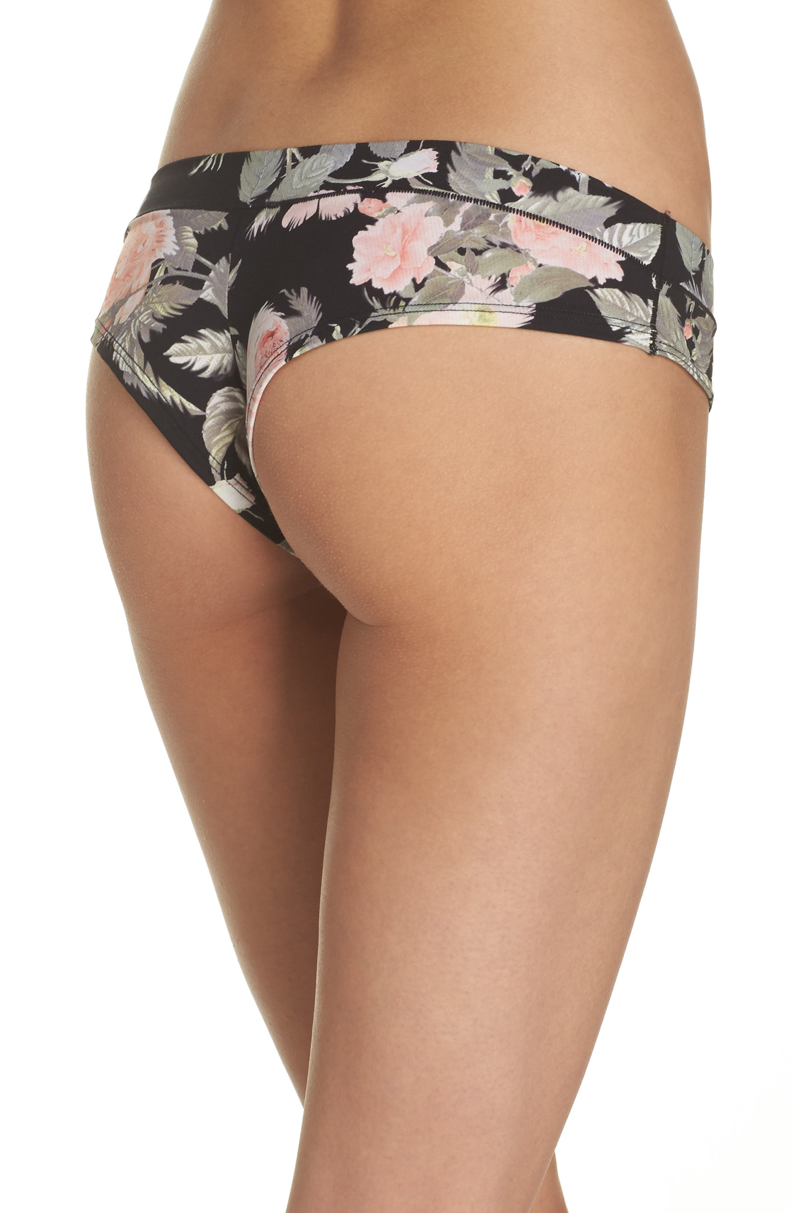 Beau Floral Cheeky Panties,                             Alternate thumbnail 2, color,                             001