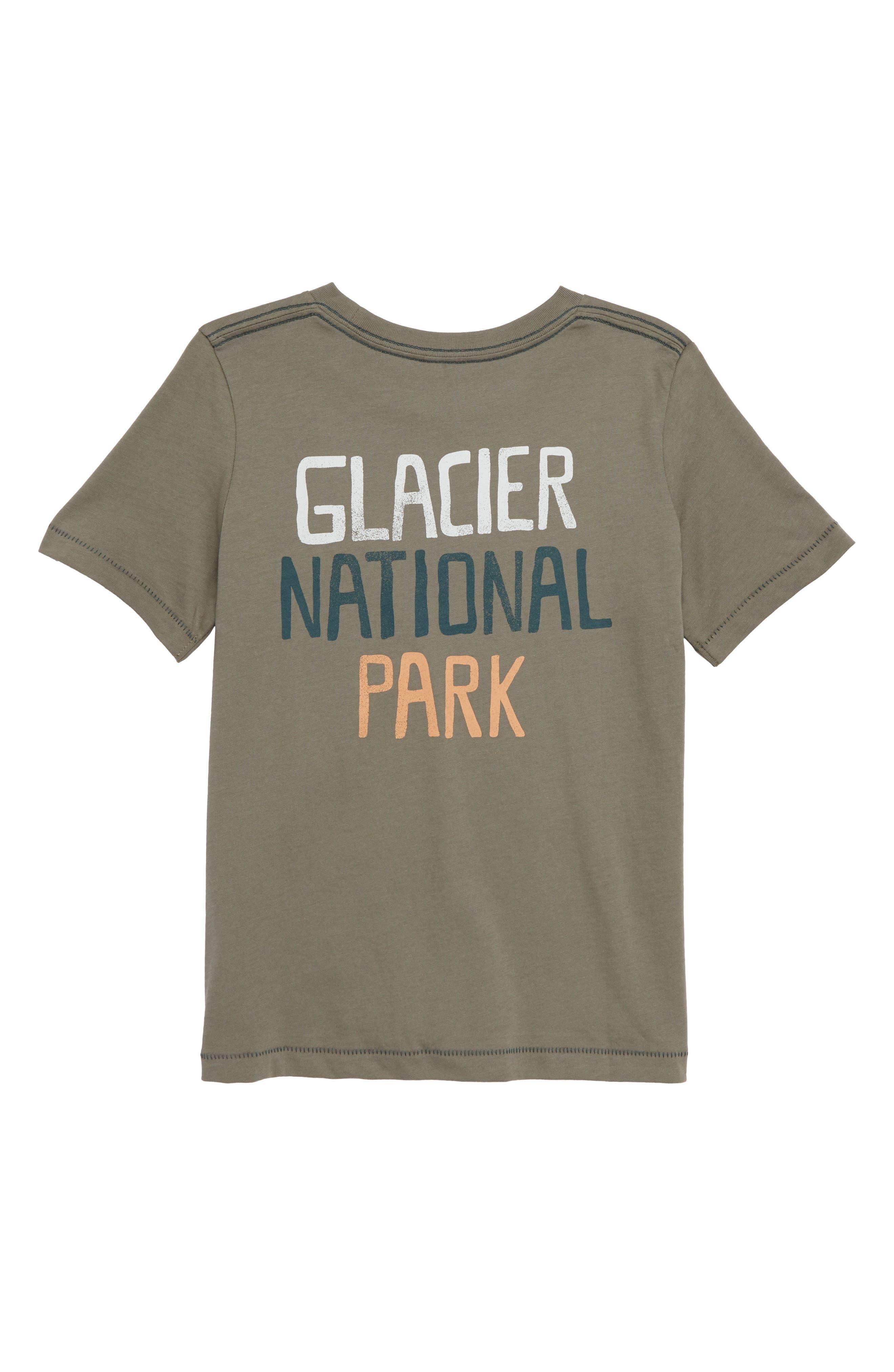 Glacier National Park T-Shirt,                             Alternate thumbnail 2, color,                             OLIVE