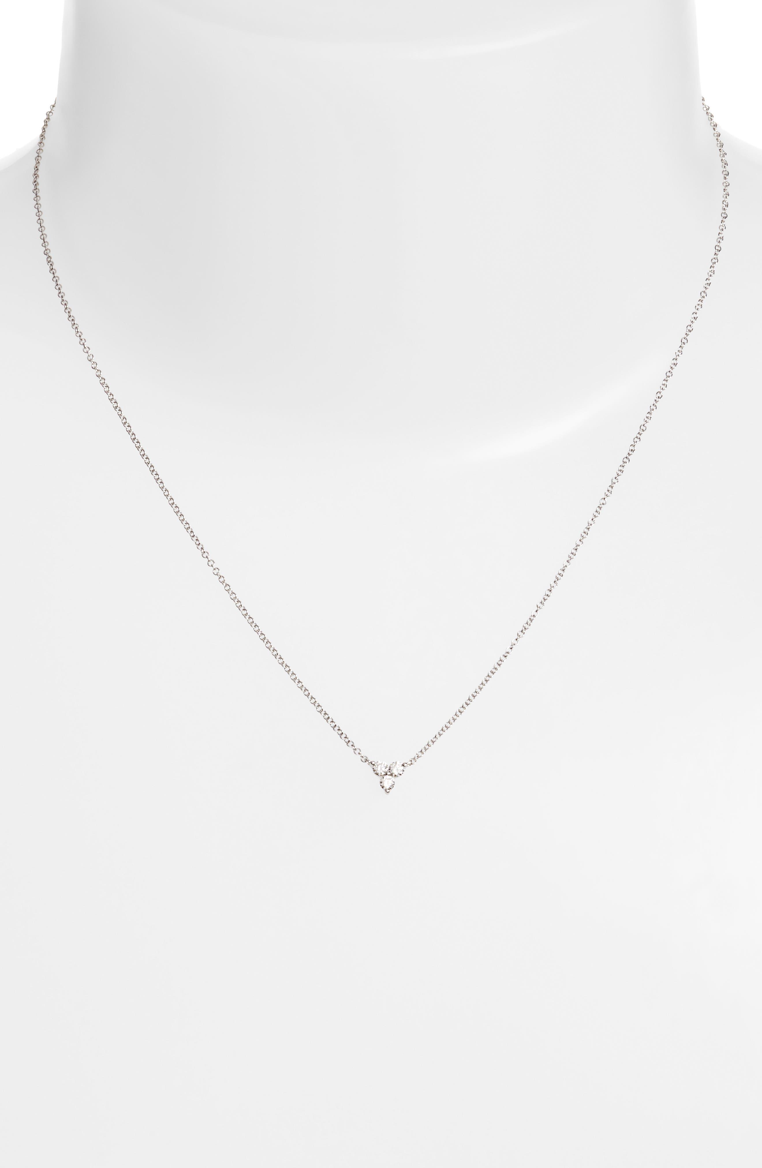 Trio Diamond Pendant Necklace,                             Alternate thumbnail 2, color,                             711